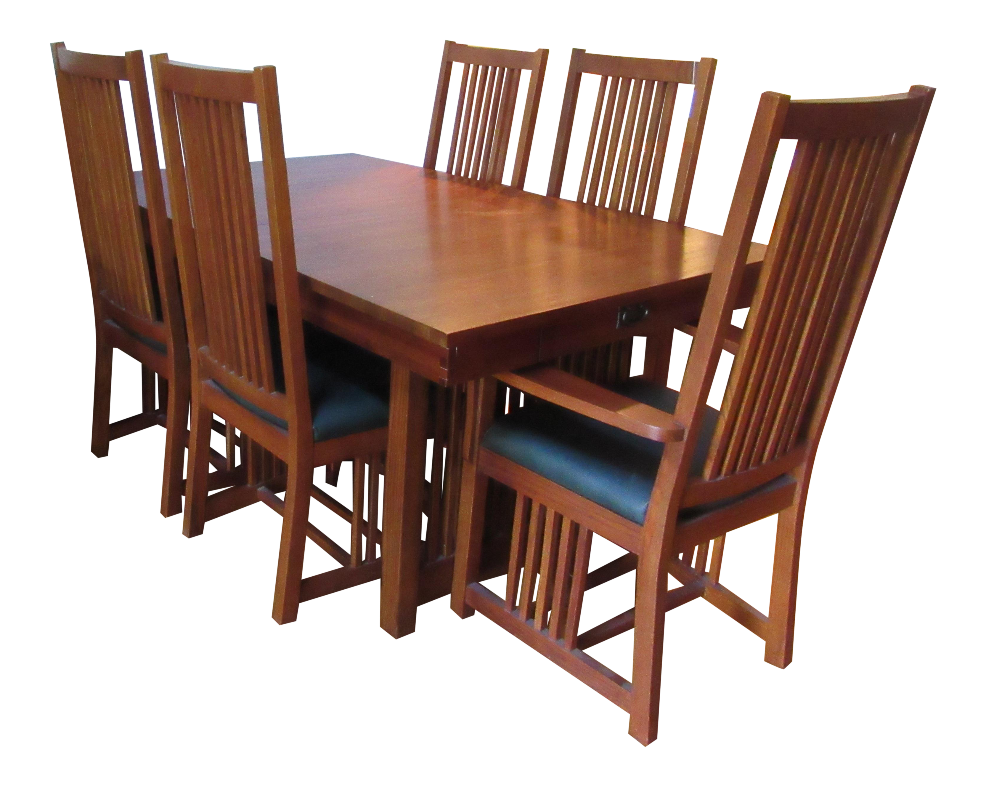 Kimball Mission Style Arts And Crafts Dining Set 7 Pieces Chairish