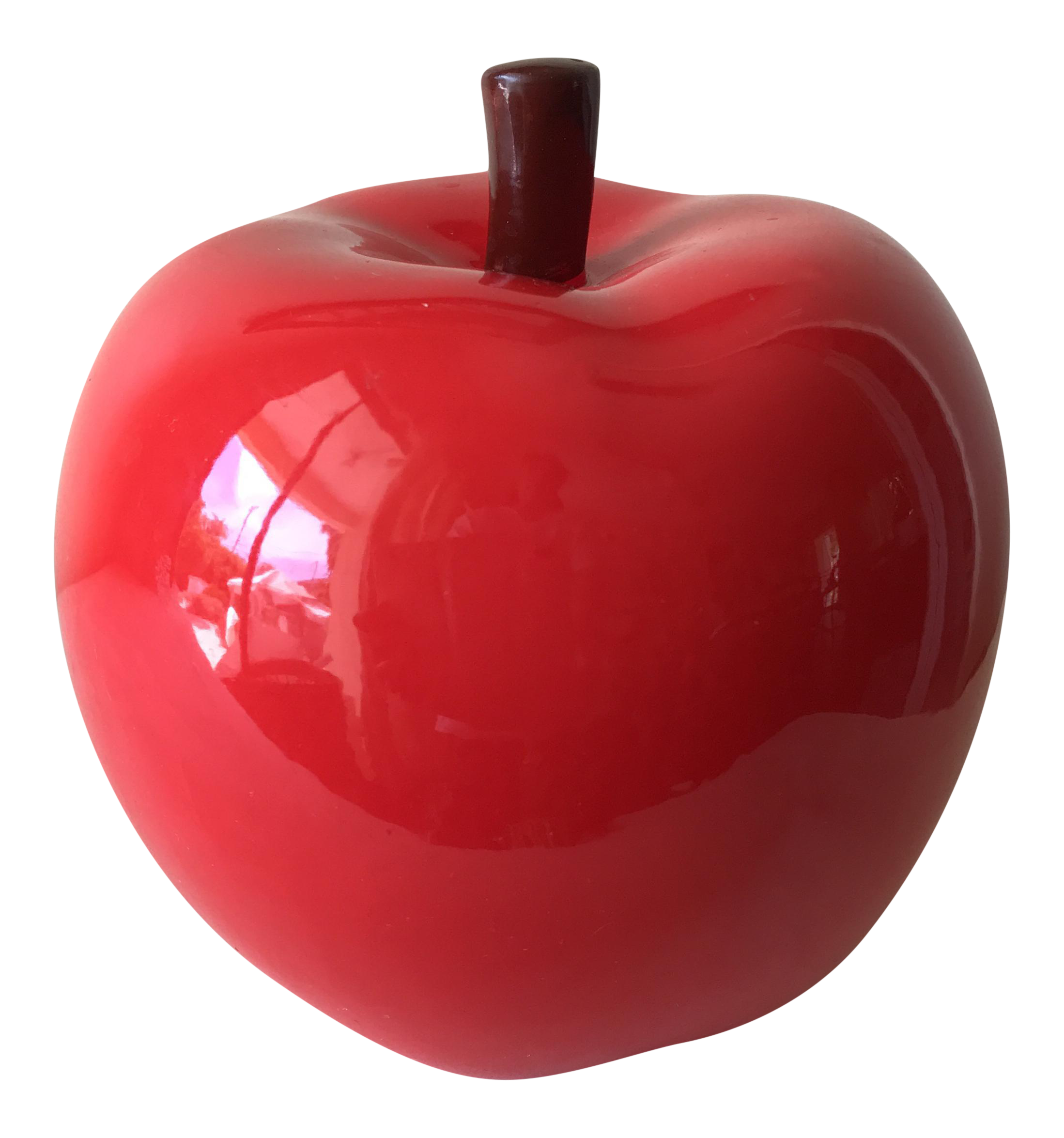 Ceramic Red Apple Figurine Chairish