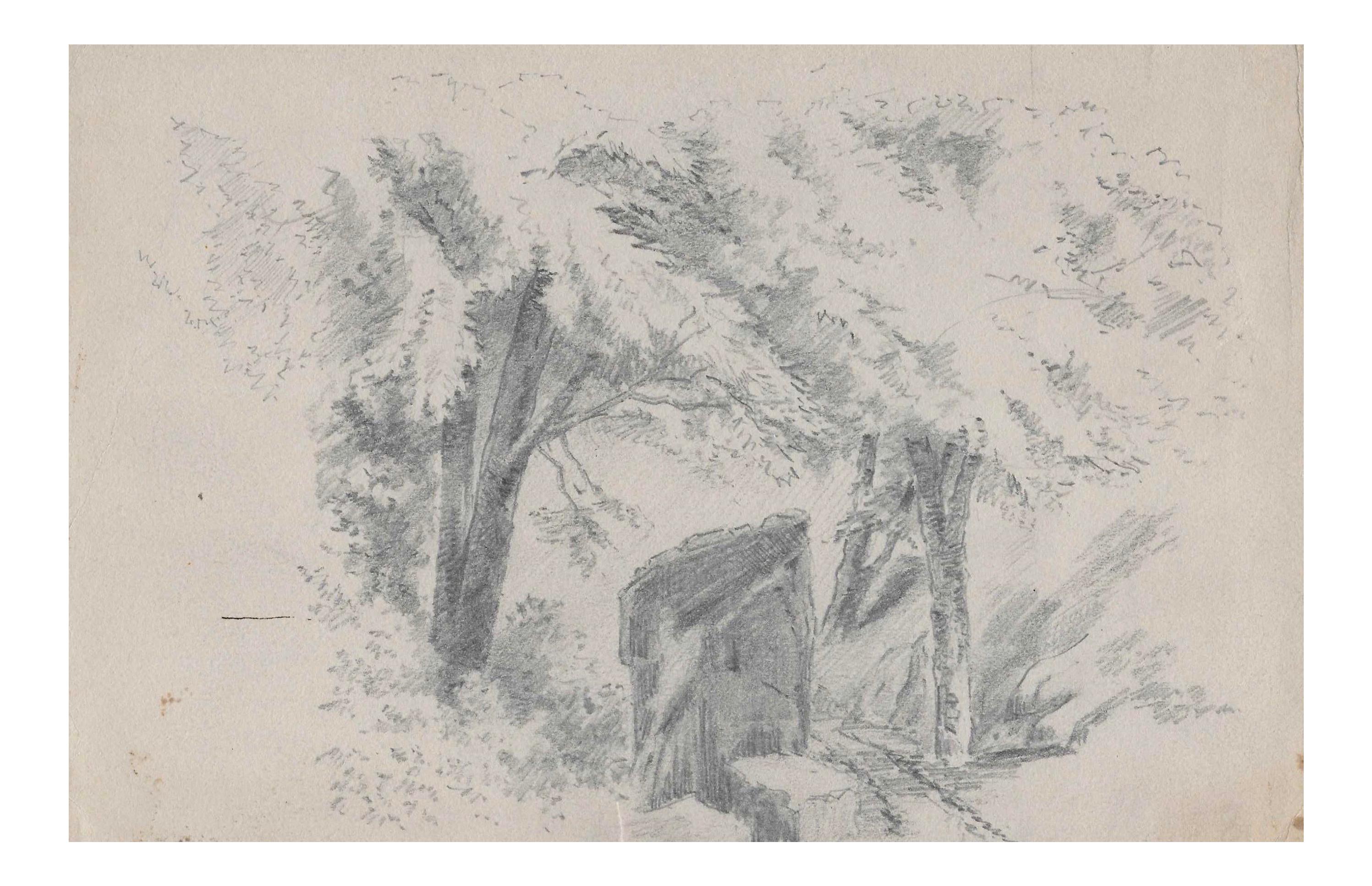 1920s Woodland Landscape Drawing By Benjamin Harnett Chairish