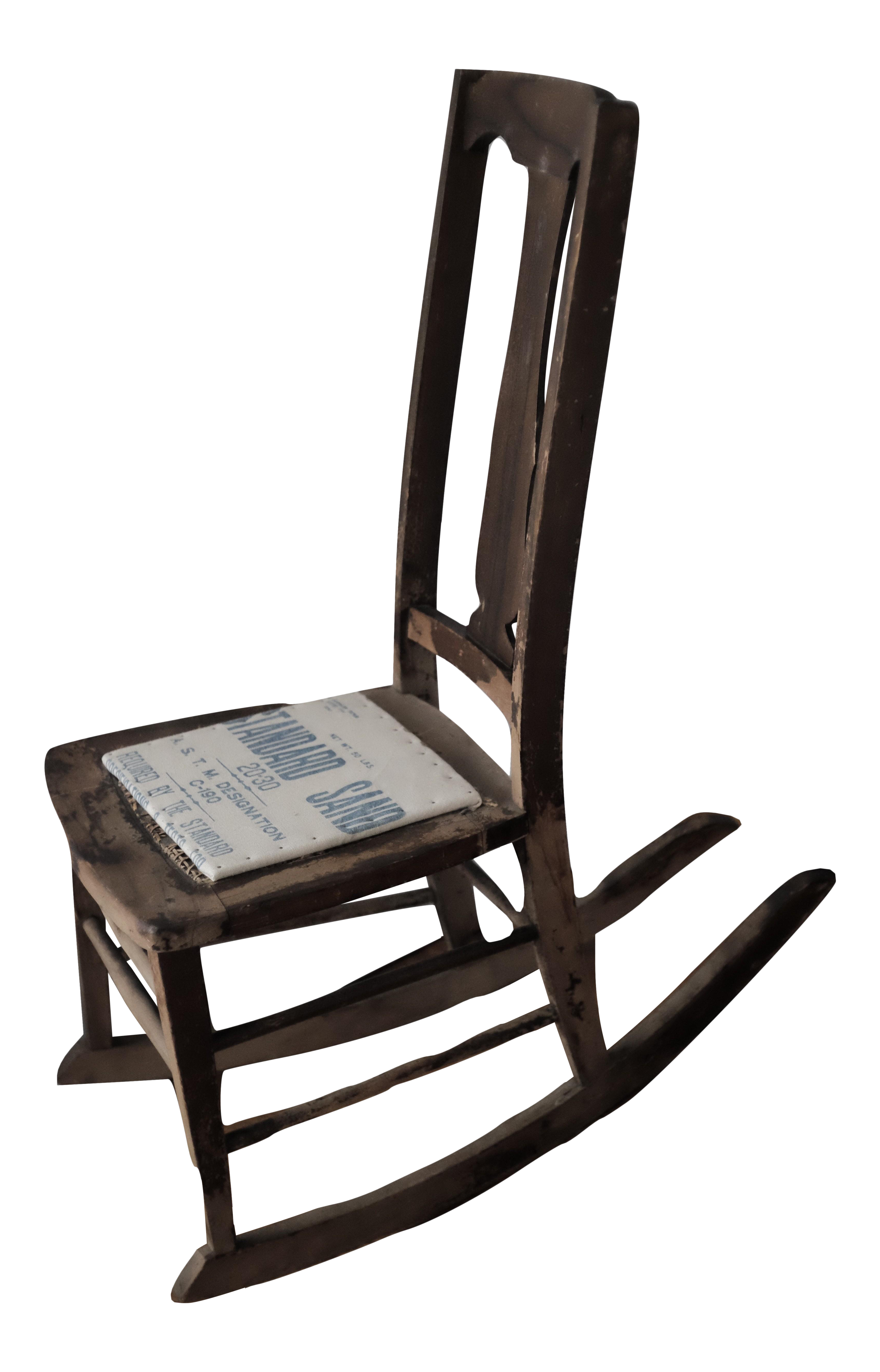 Antique Sewing Nursing Rocking Chair