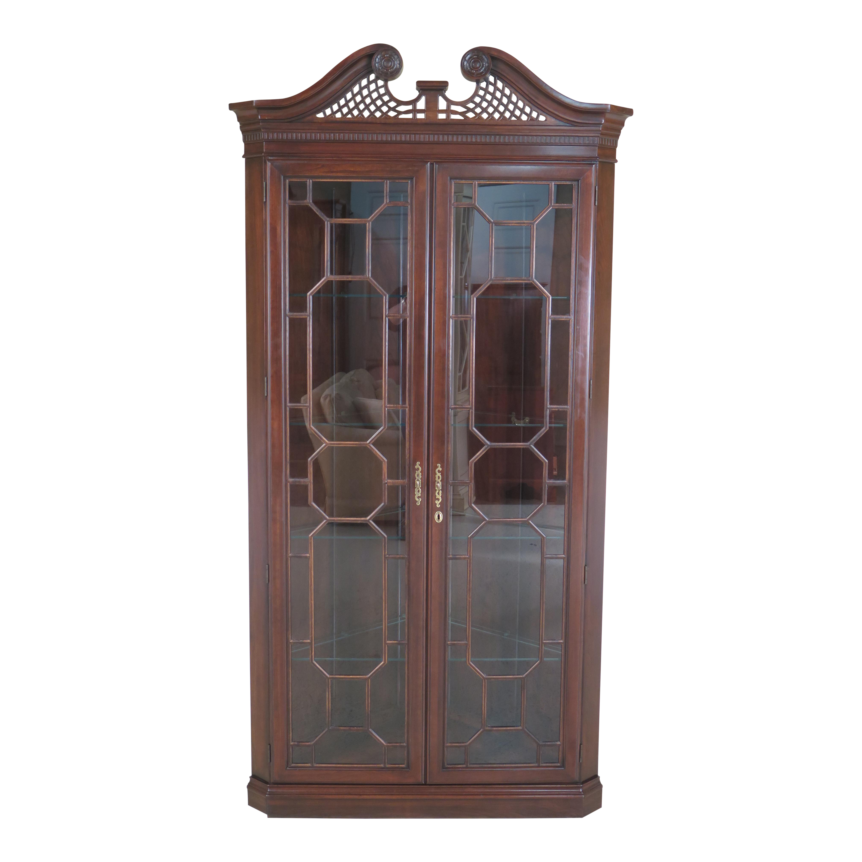 of cabinet america home traditional shipping corner free product furniture lighted garden walnut curio today overstock jora
