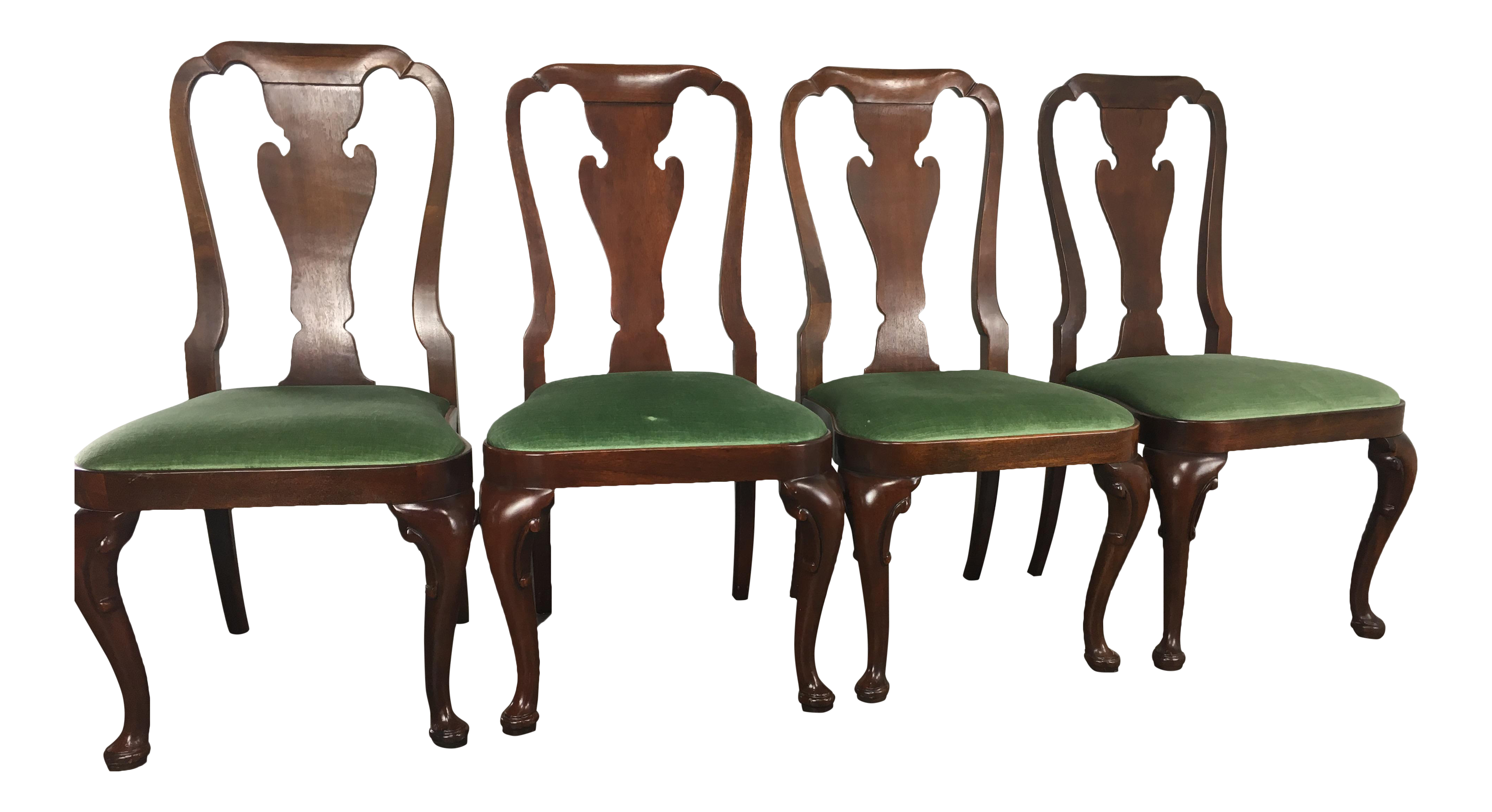 Baker Green Upholsted Side Dining Chairs Set Of 4 Chairish