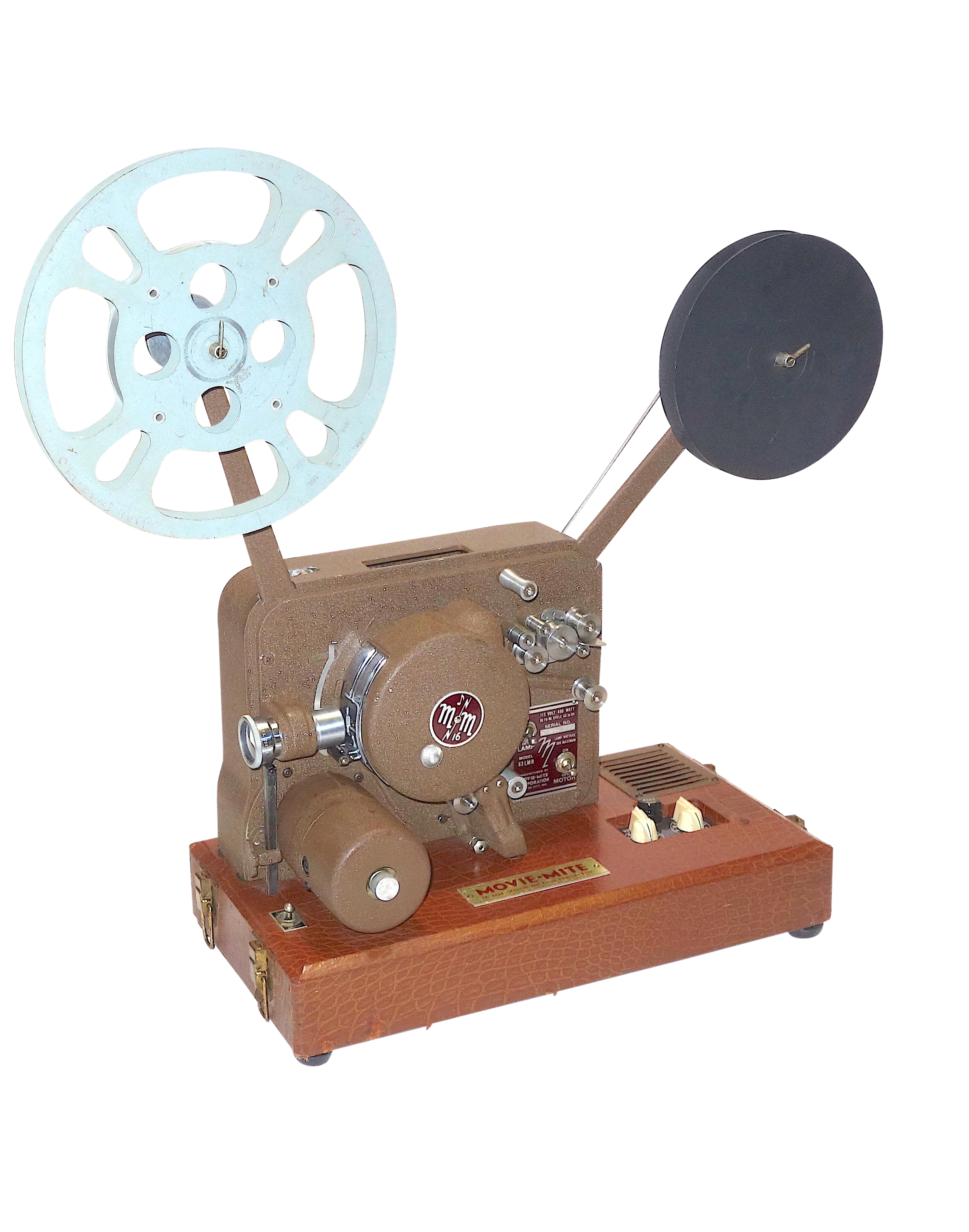 Lovely circa 1940s sound and picture movie projector art deco design all original 16mm artifact decaso