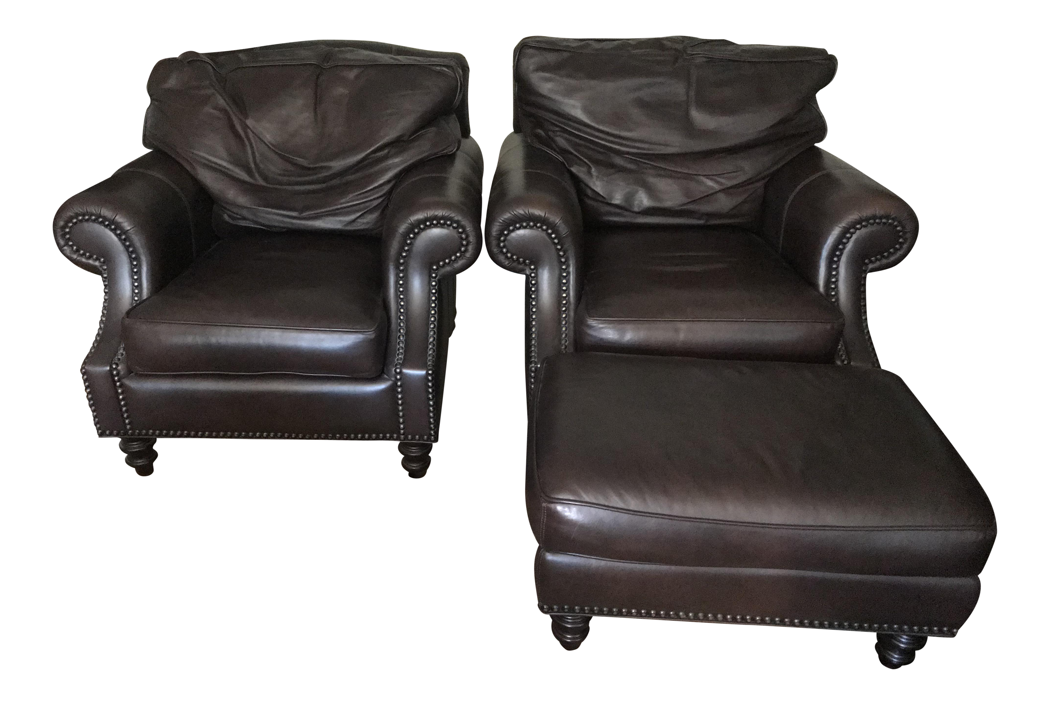 Phenomenal Our House Designs Leather Club Chairs With Ottomans Ncnpc Chair Design For Home Ncnpcorg