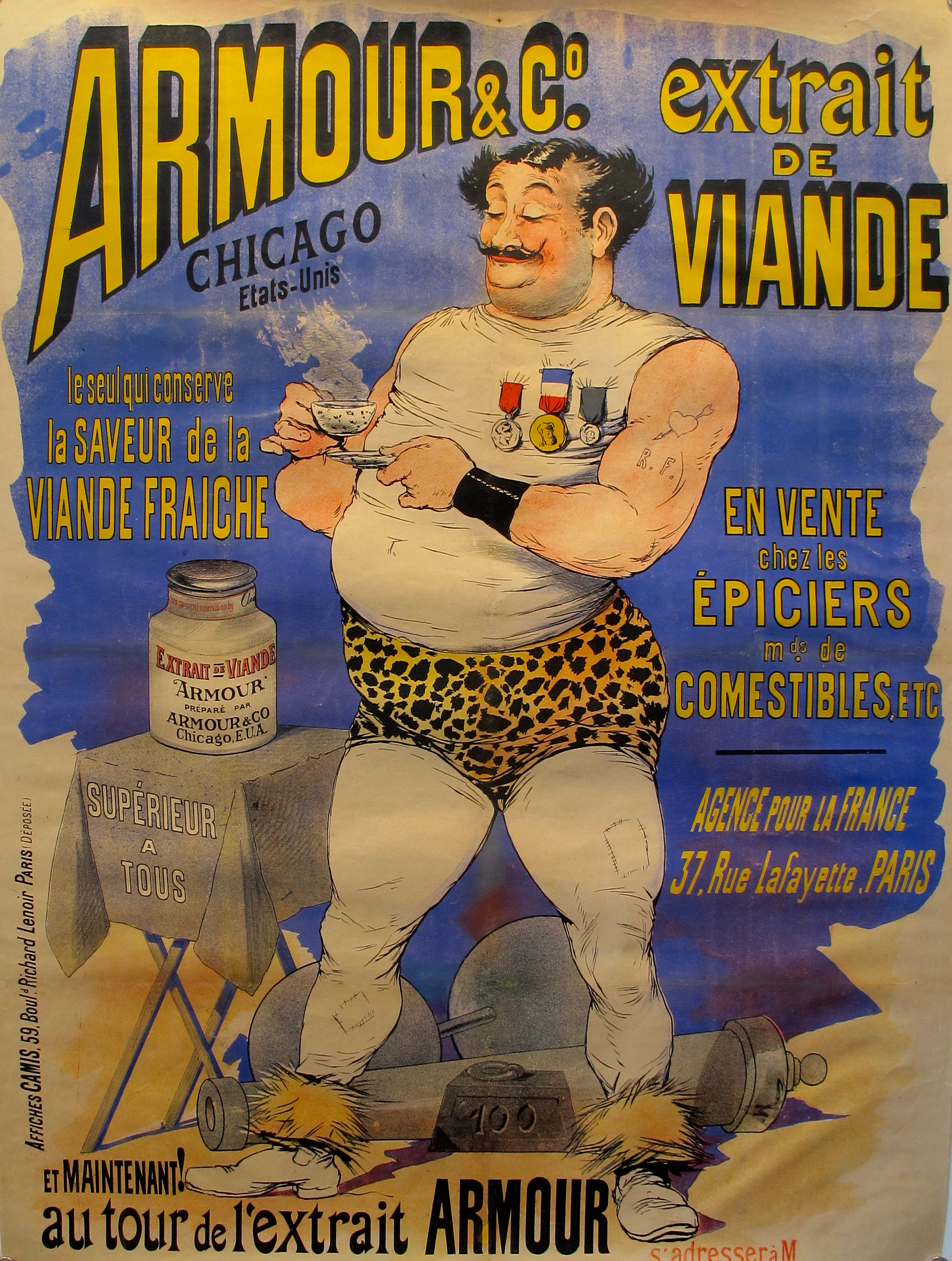 1897 French Vintage Strongman Poster Chairish