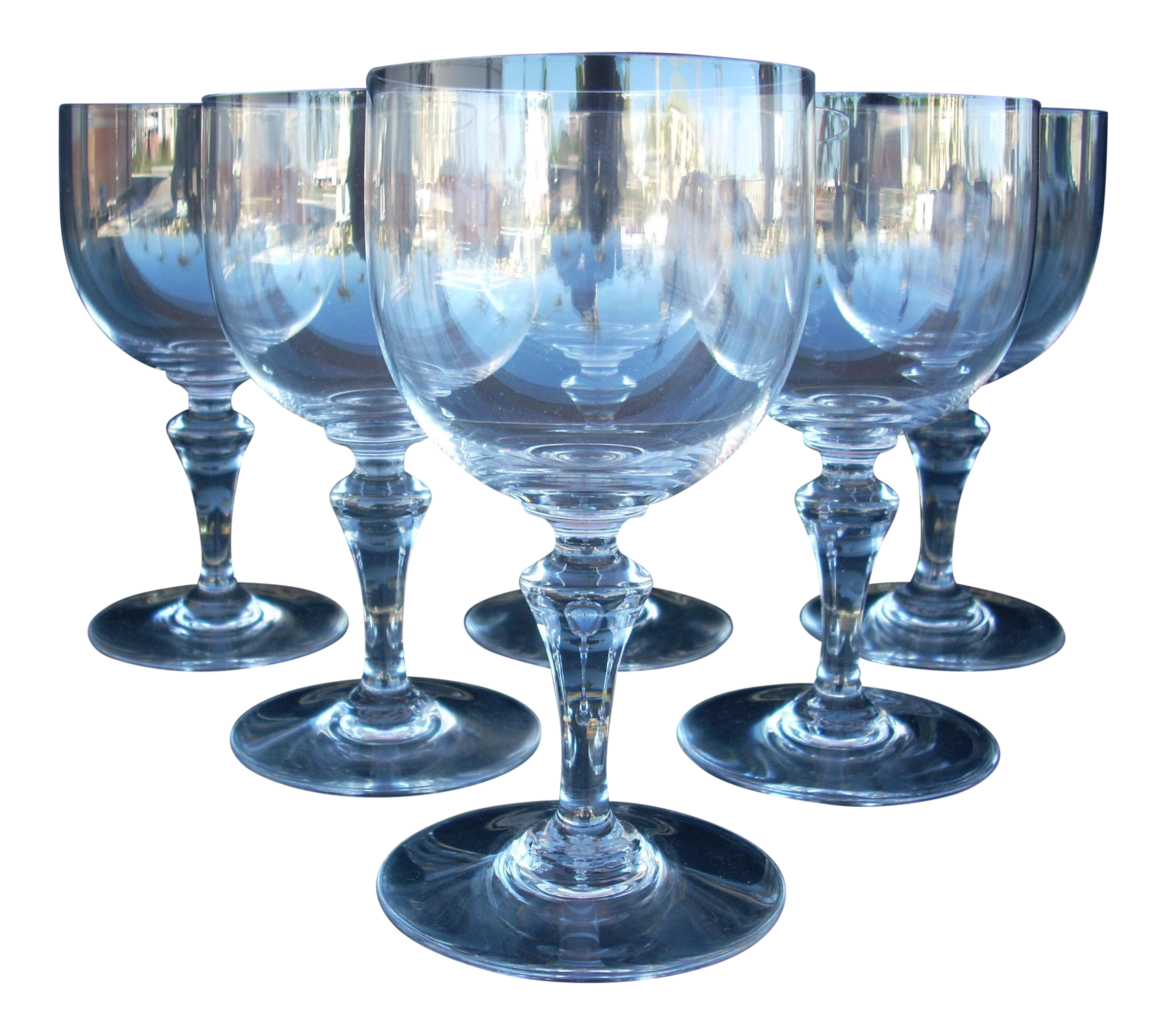 Baccarat clear crystal glassware couche casino taille 4