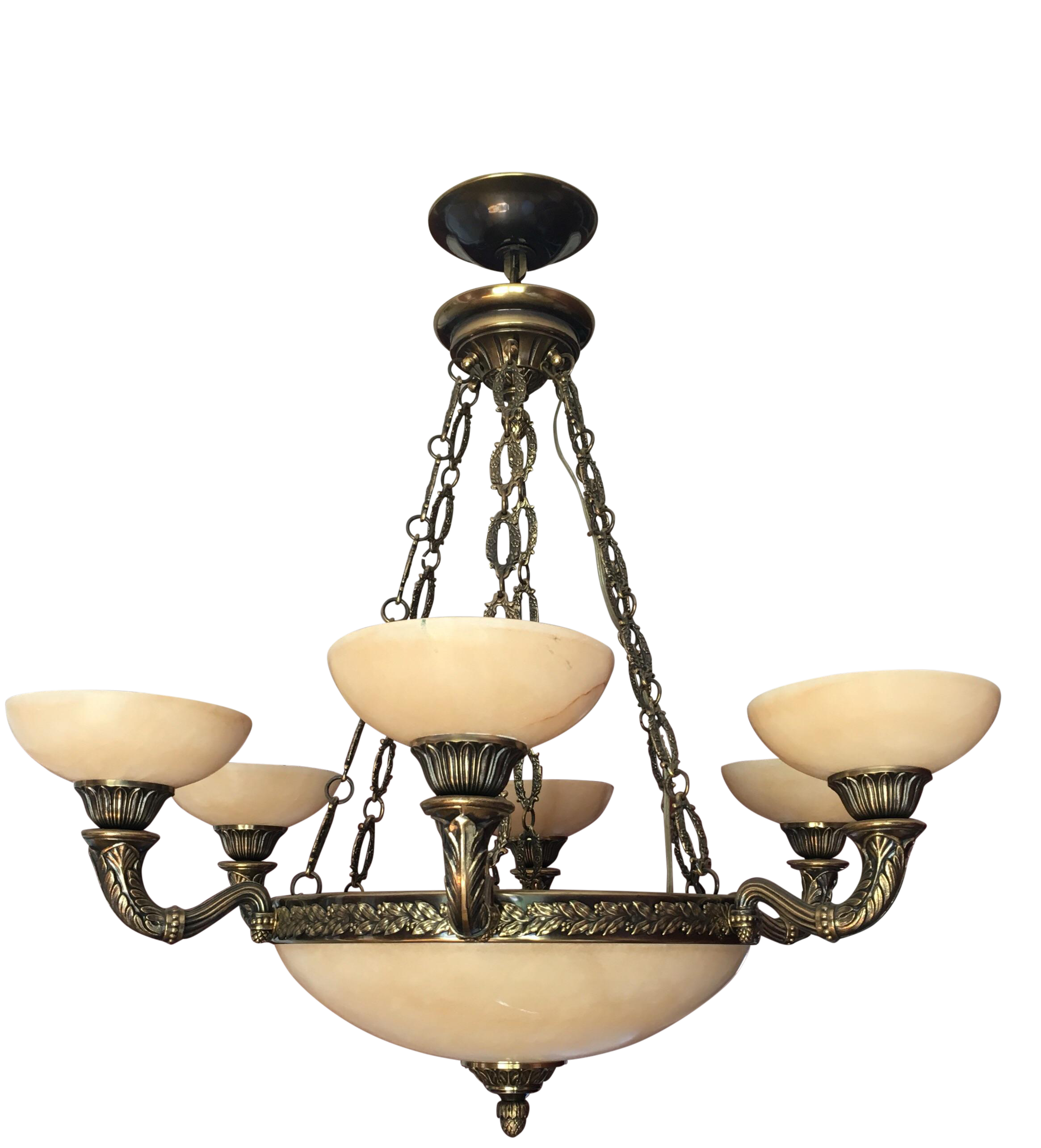 Mariner S A Spain Alabaster Chandelier