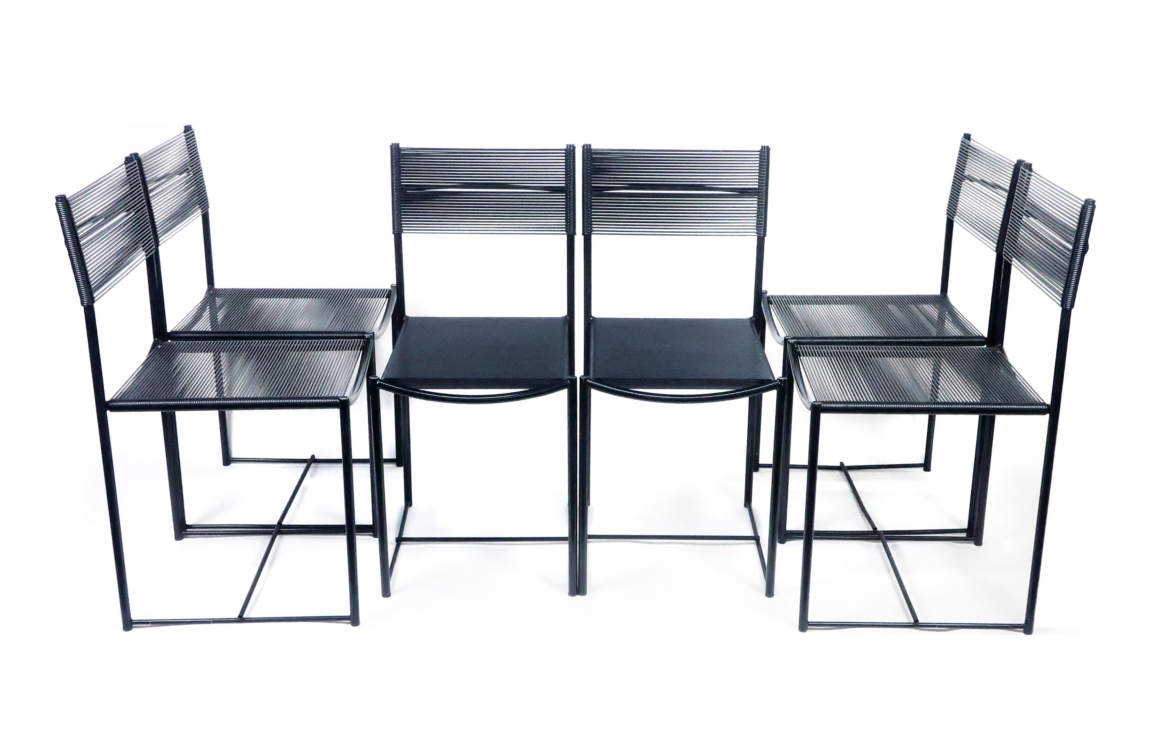 Spaghetti Chair Giandomenico Belotti.Six Spaghetti Dining Chairs By Giandomenico Belotti For Alias