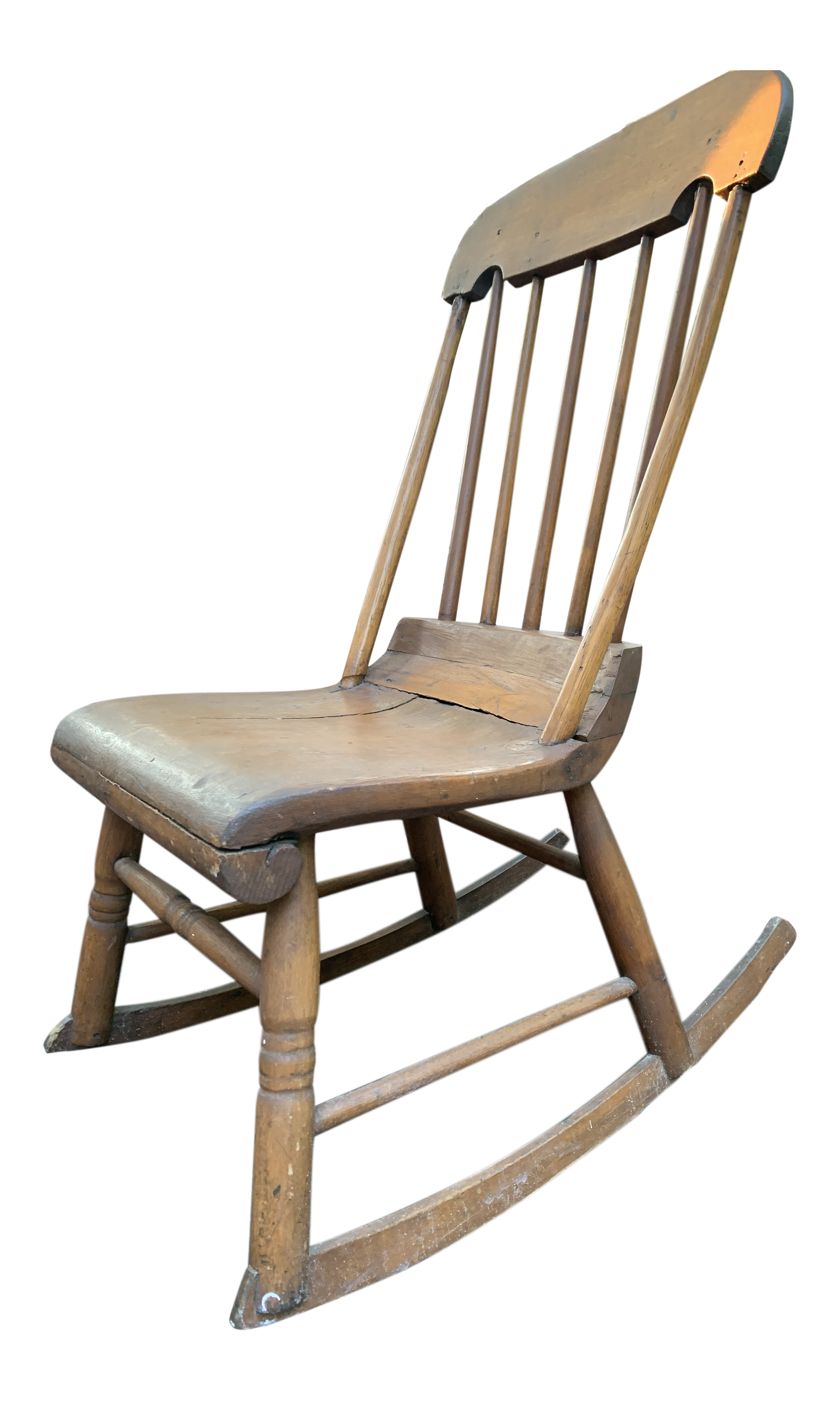 Terrific 1830S Vintage Wooden Rocking Chair Ncnpc Chair Design For Home Ncnpcorg