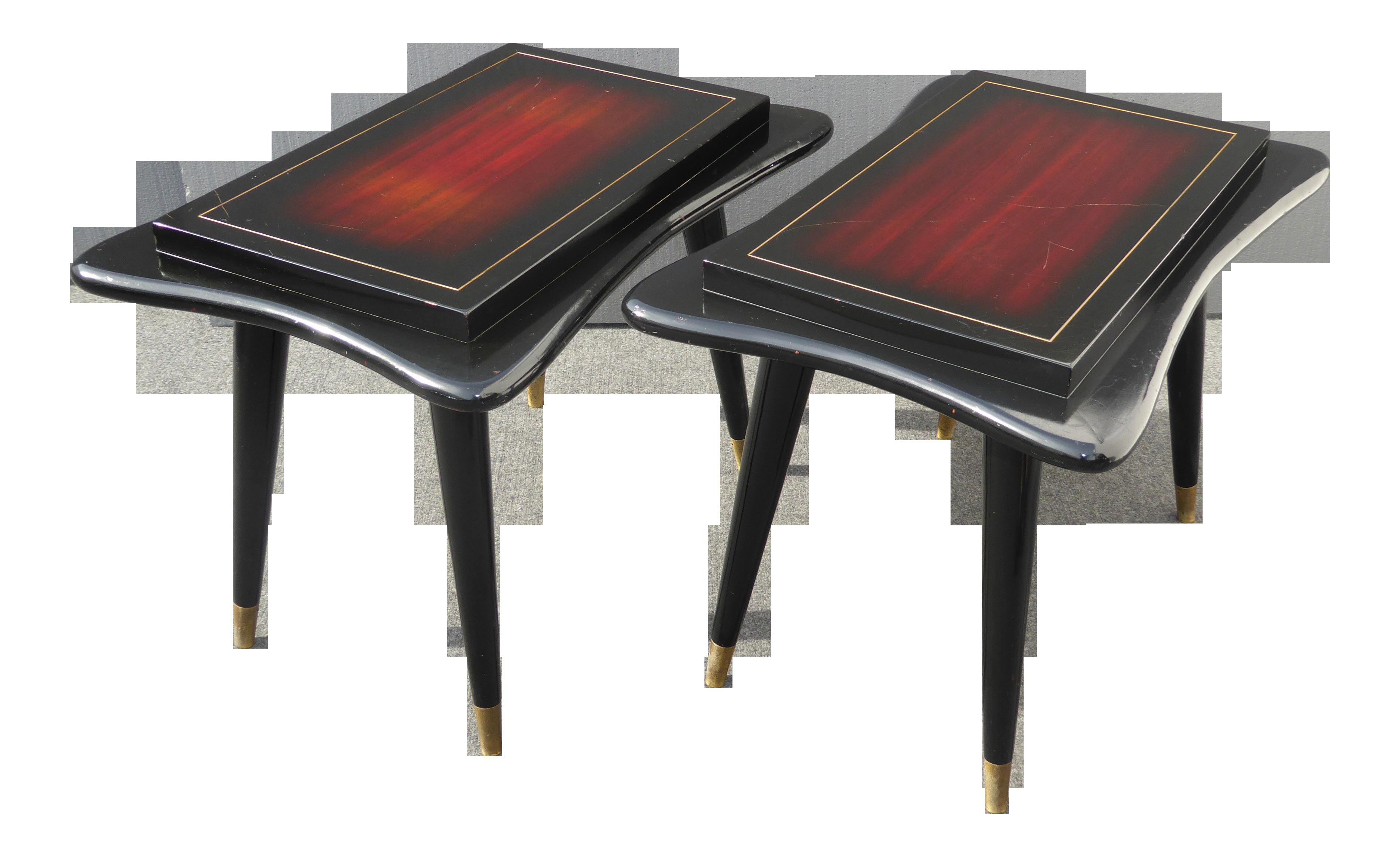Pair Of Vintage Gordon S Fine Furniture Mid Century Modern Wood End Tables Chairish