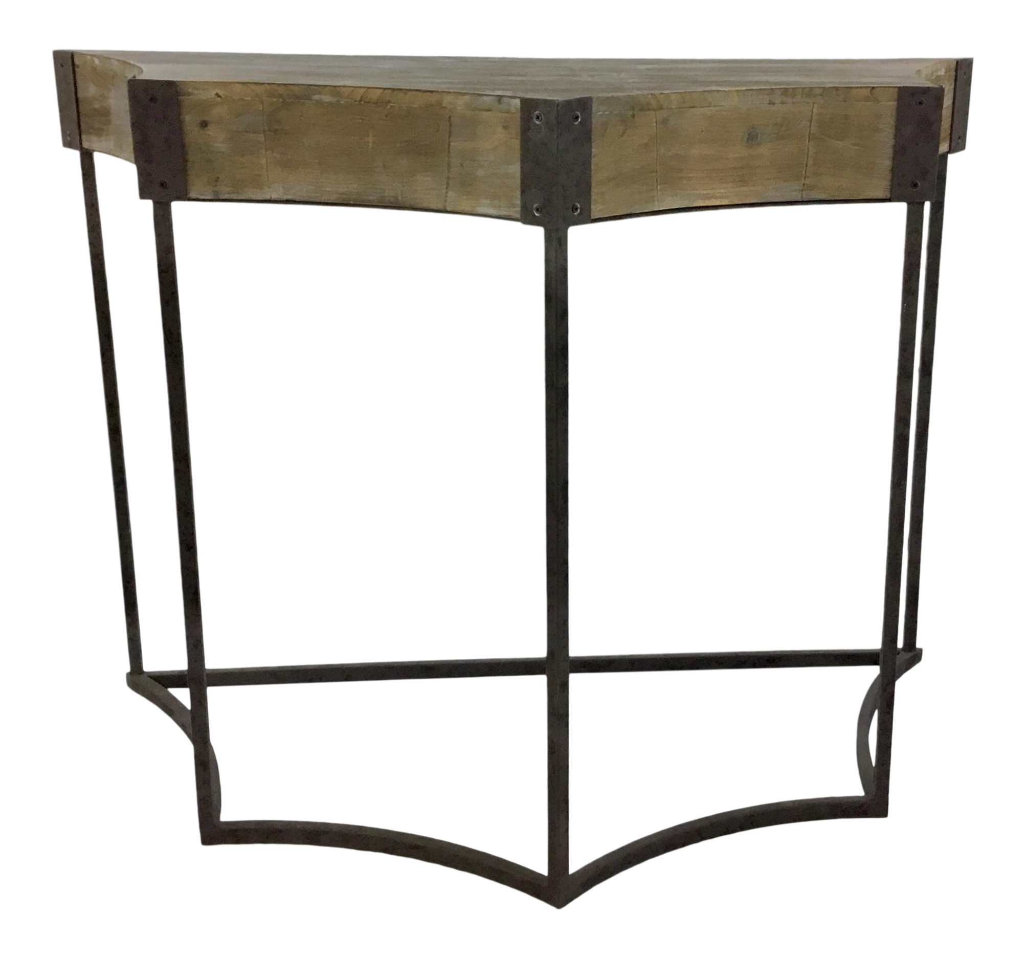 Rustic Wood And Metal Console Table Chairish