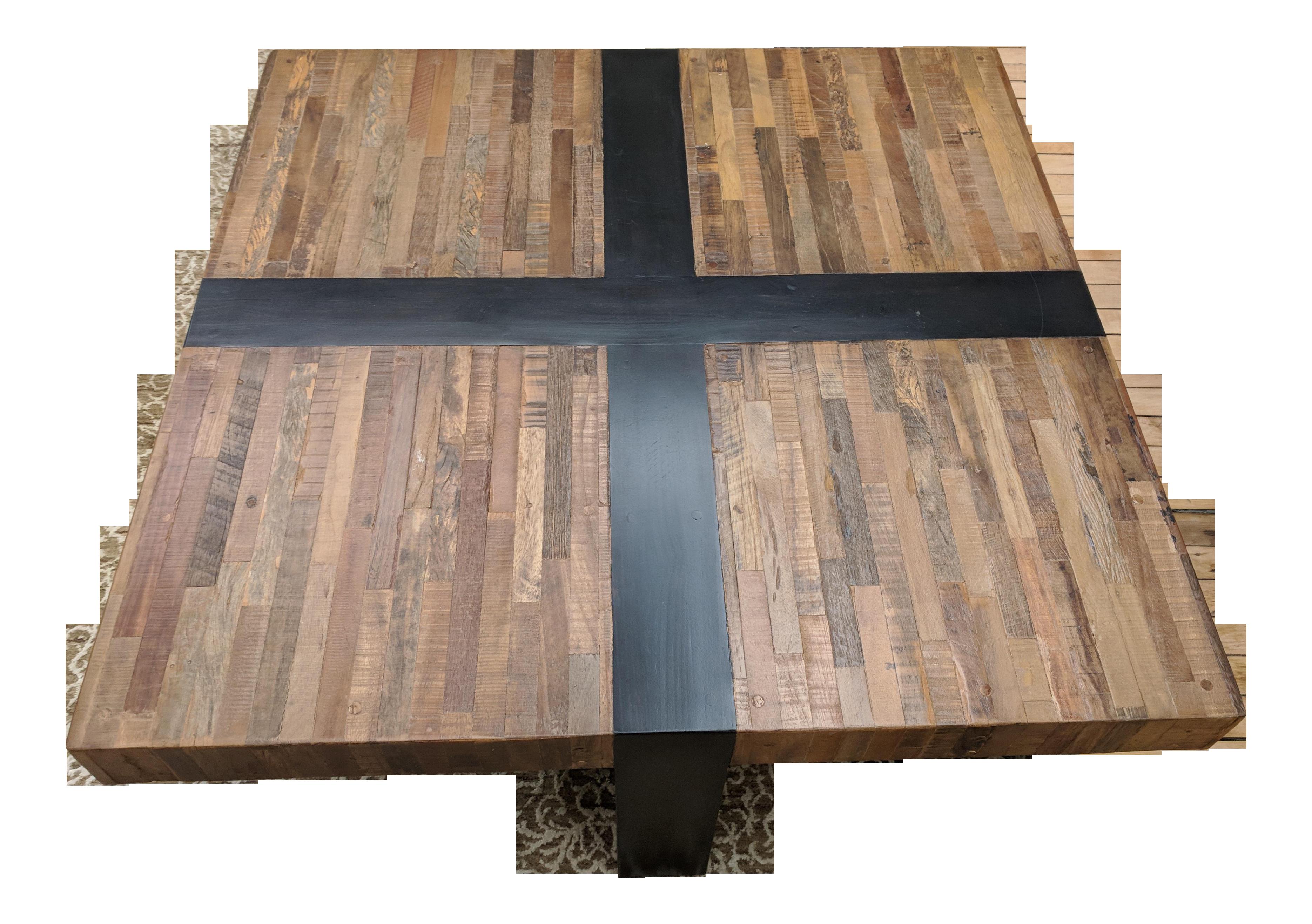 Crate barrel seguro ebony square coffee table chairish