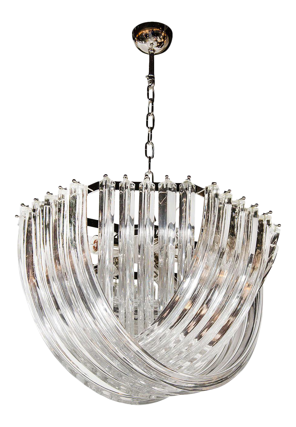 chandelier antiques lucite ribbon com vintage miami worthgalleries