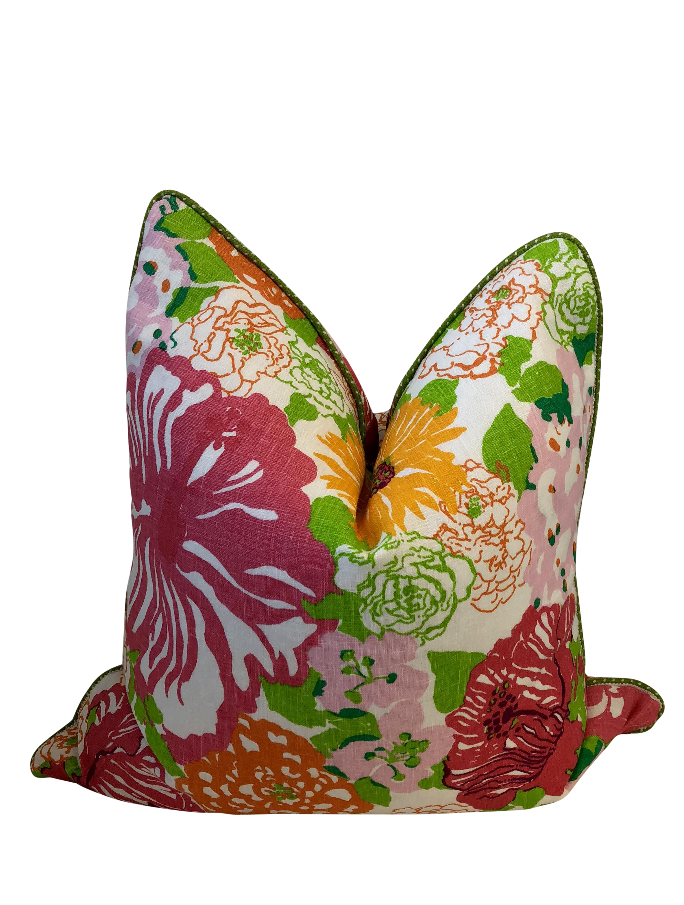 20x20 Pink Lilly Pulitzer Heritage Floral Throw Pillow Chairish