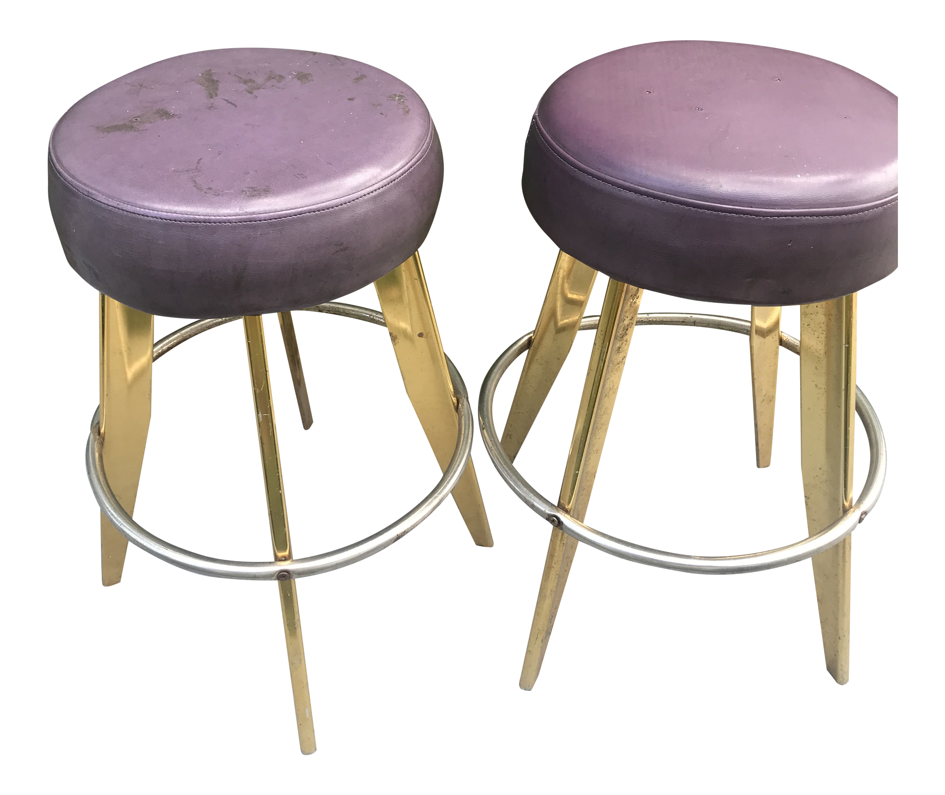 Image of: Vintage Space Age Mid Century Modern Bar Stools A Pair Chairish