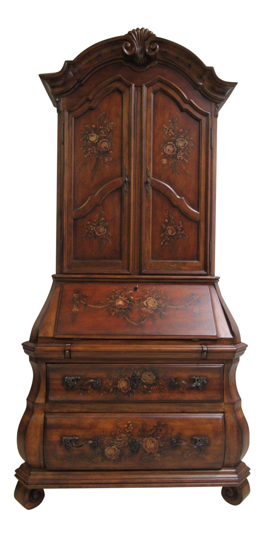 Ethan Allen Tuscany Bombay Paint Decorated Drop Front