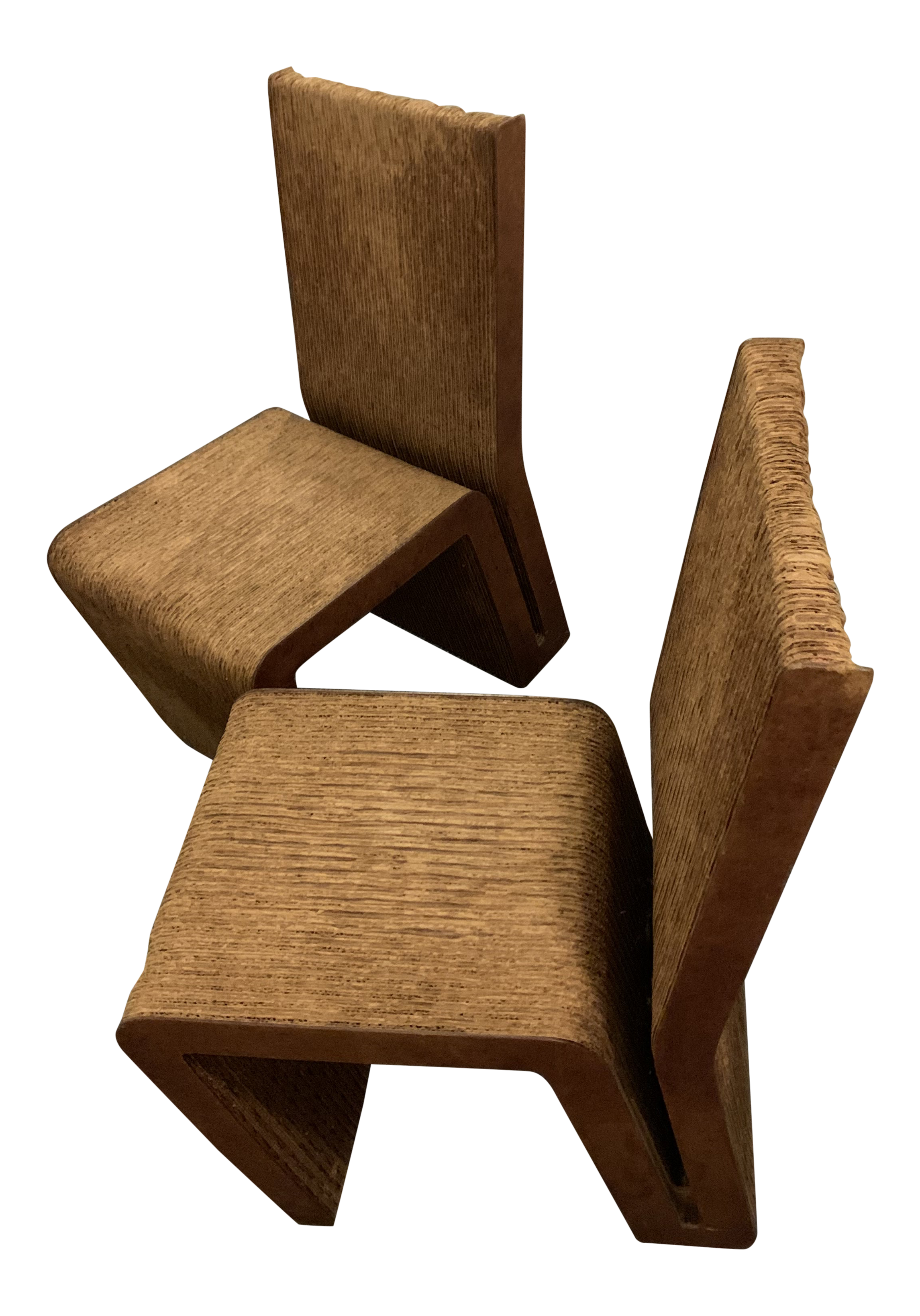 Frank Gehry Chaise Carton frank gehry cardboard side chairs - a pair