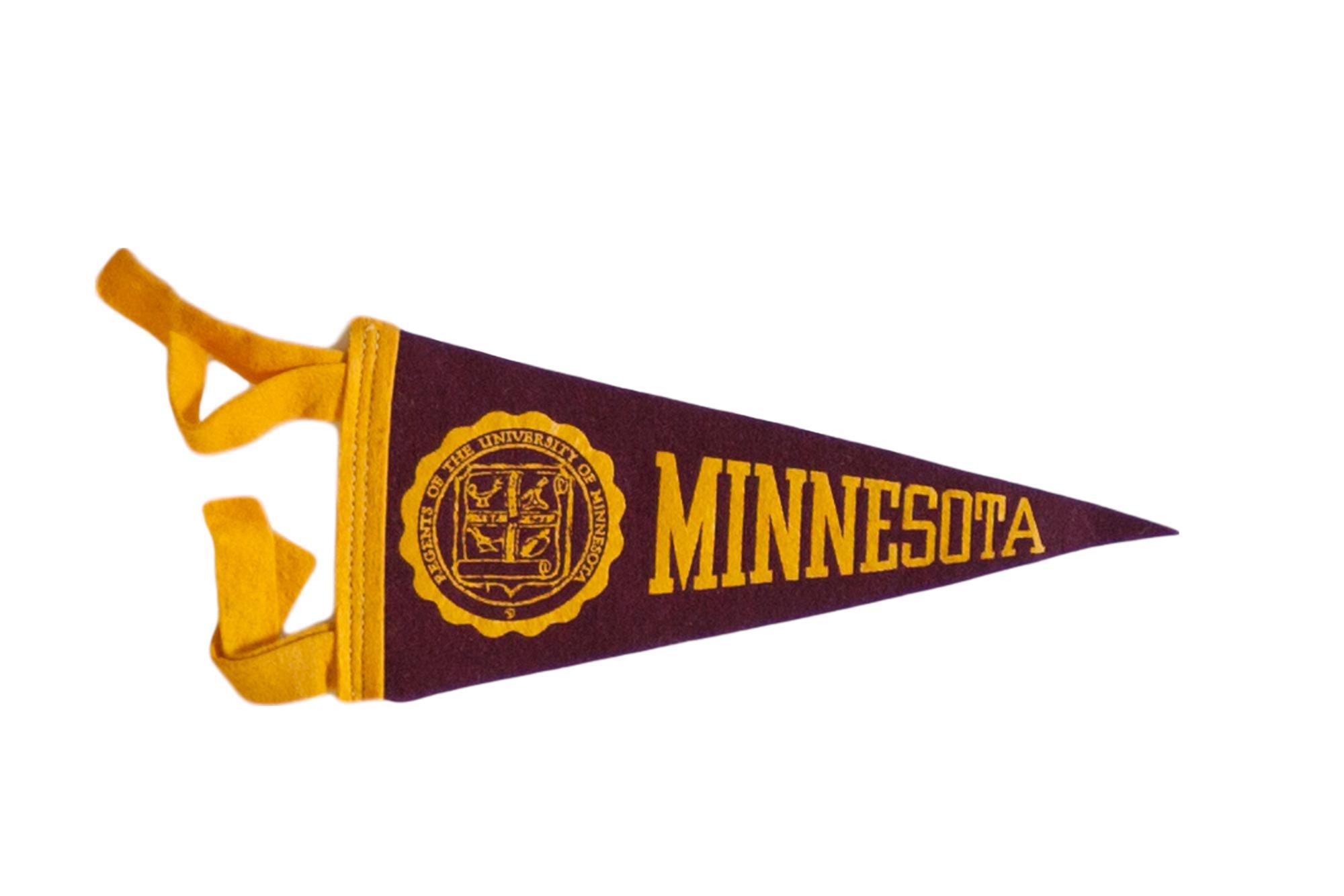 Mini Vintage University Of Minnesota Felt Flag Pennant Chairish