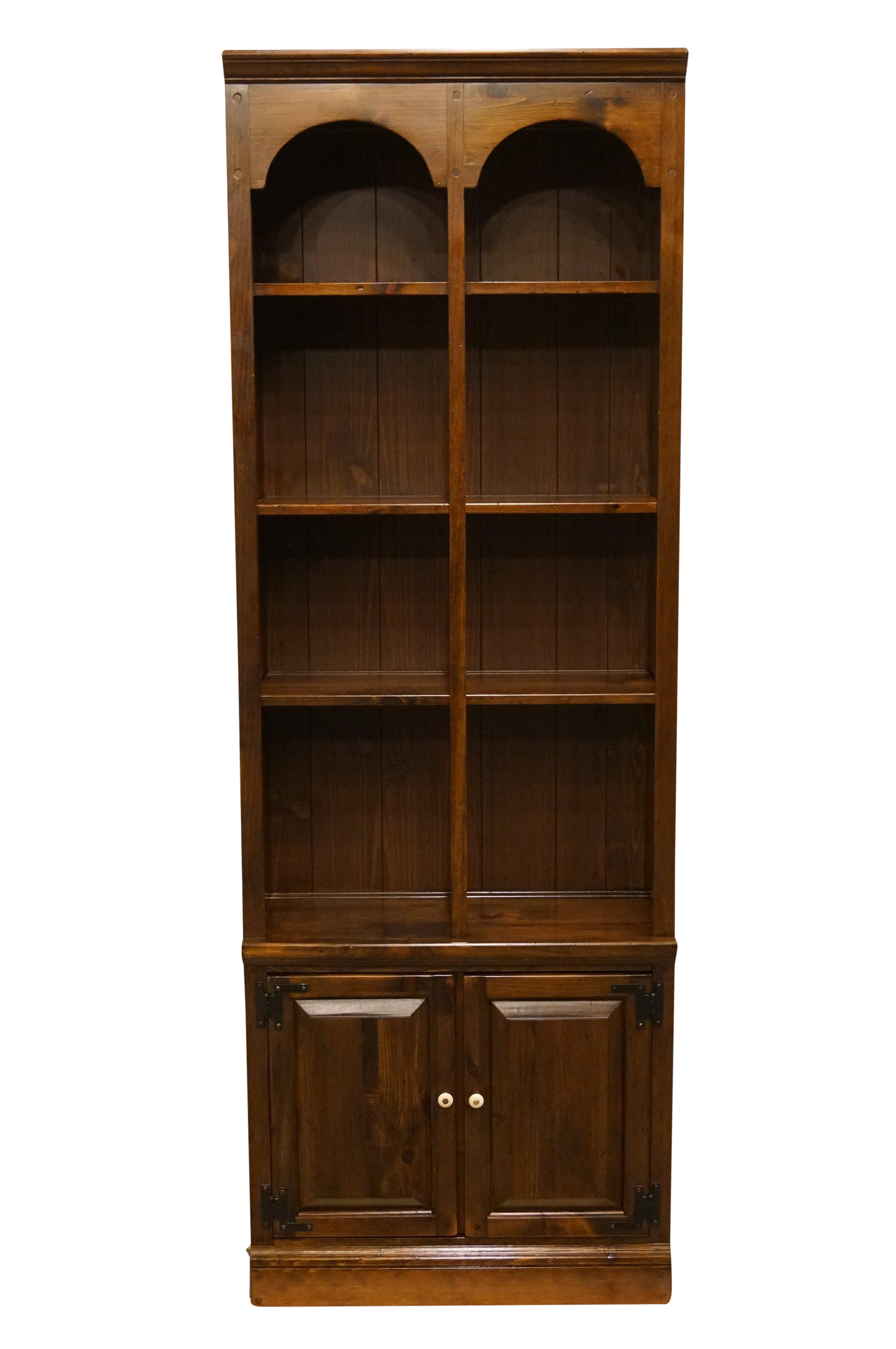 20th Century Traditional Ethan Allen Pine Old Tavern 28 Wall Unit Bookcase