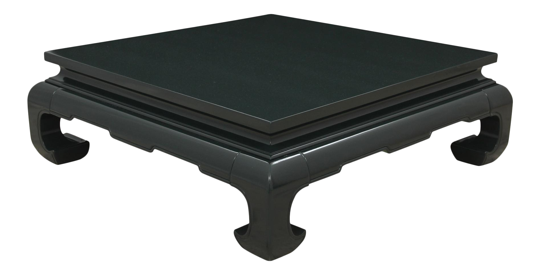 Ming Style Forest Green Coffee Table