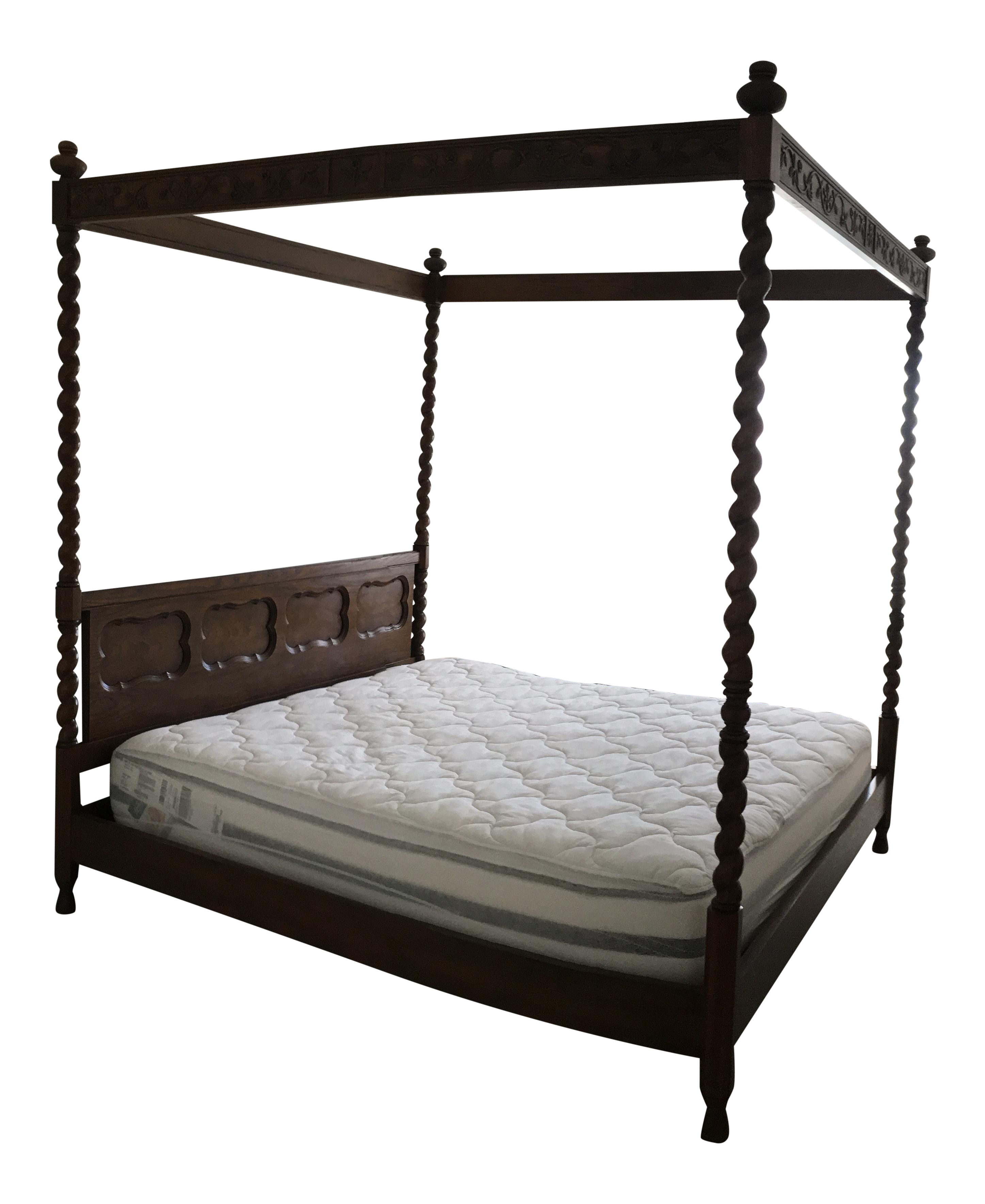 sc 1 st  Chairish & Baker King Size Four Poster Canopy Bed | Chairish