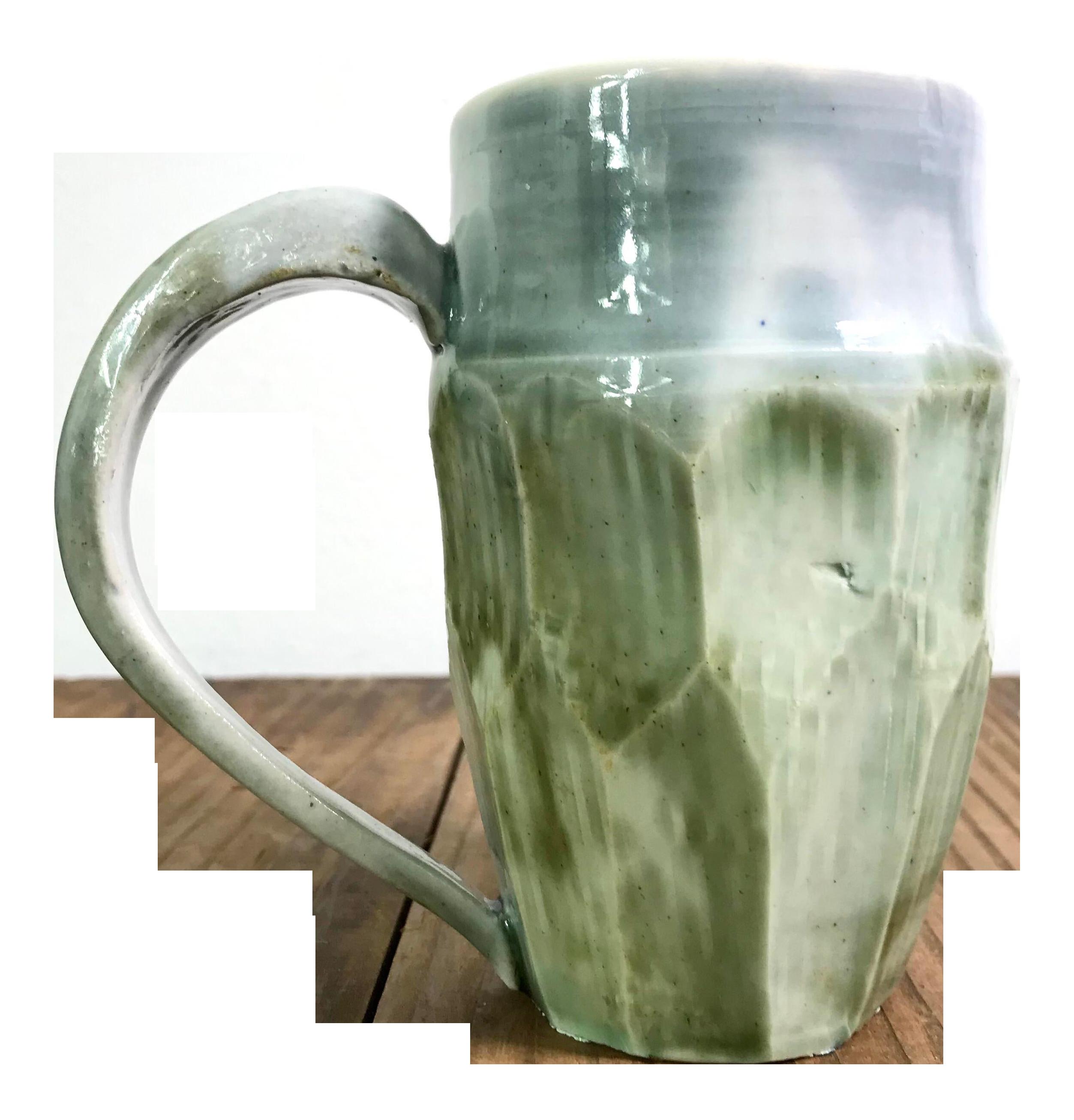 Vintage Carved Studio Pottery Ceramic Porcelain Mug Chairish