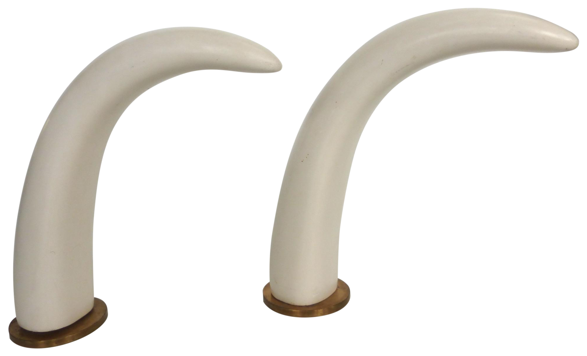 Mid Century Faux Ivory Elephant Tusks Pair Chairish