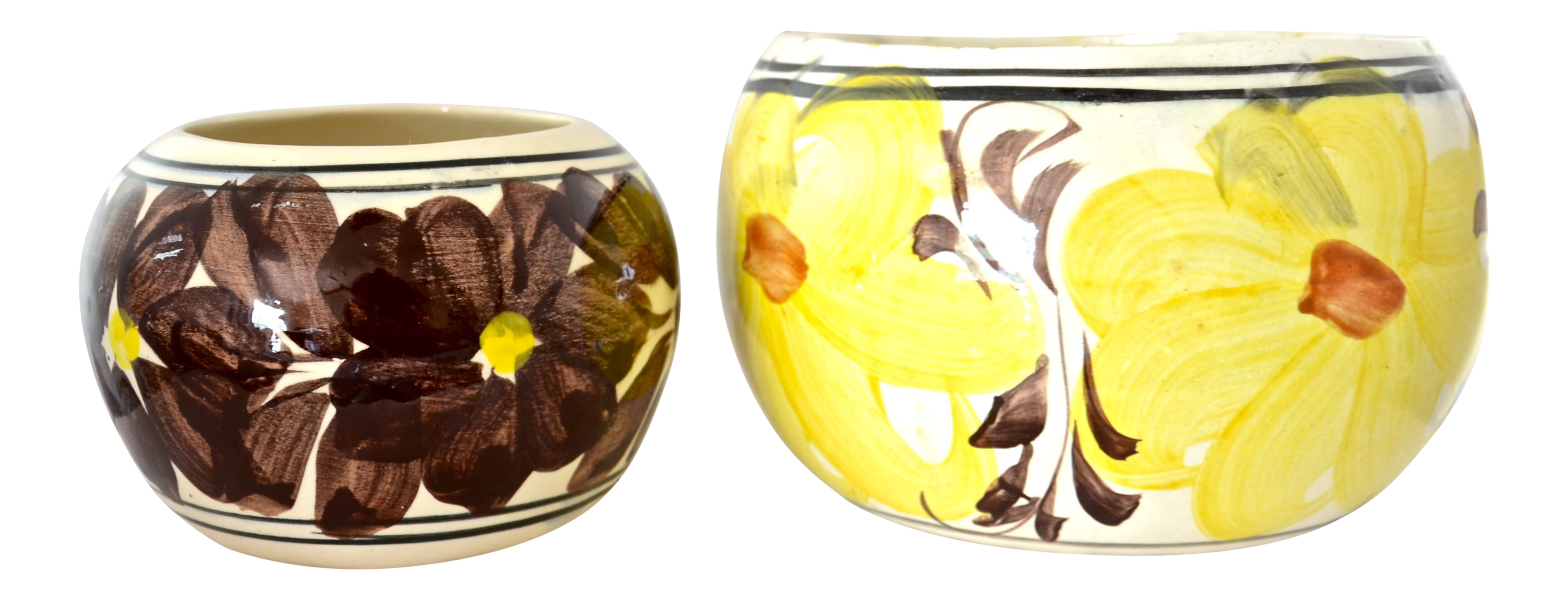 Yellow Mexican Flower Pots A Pair Chairish