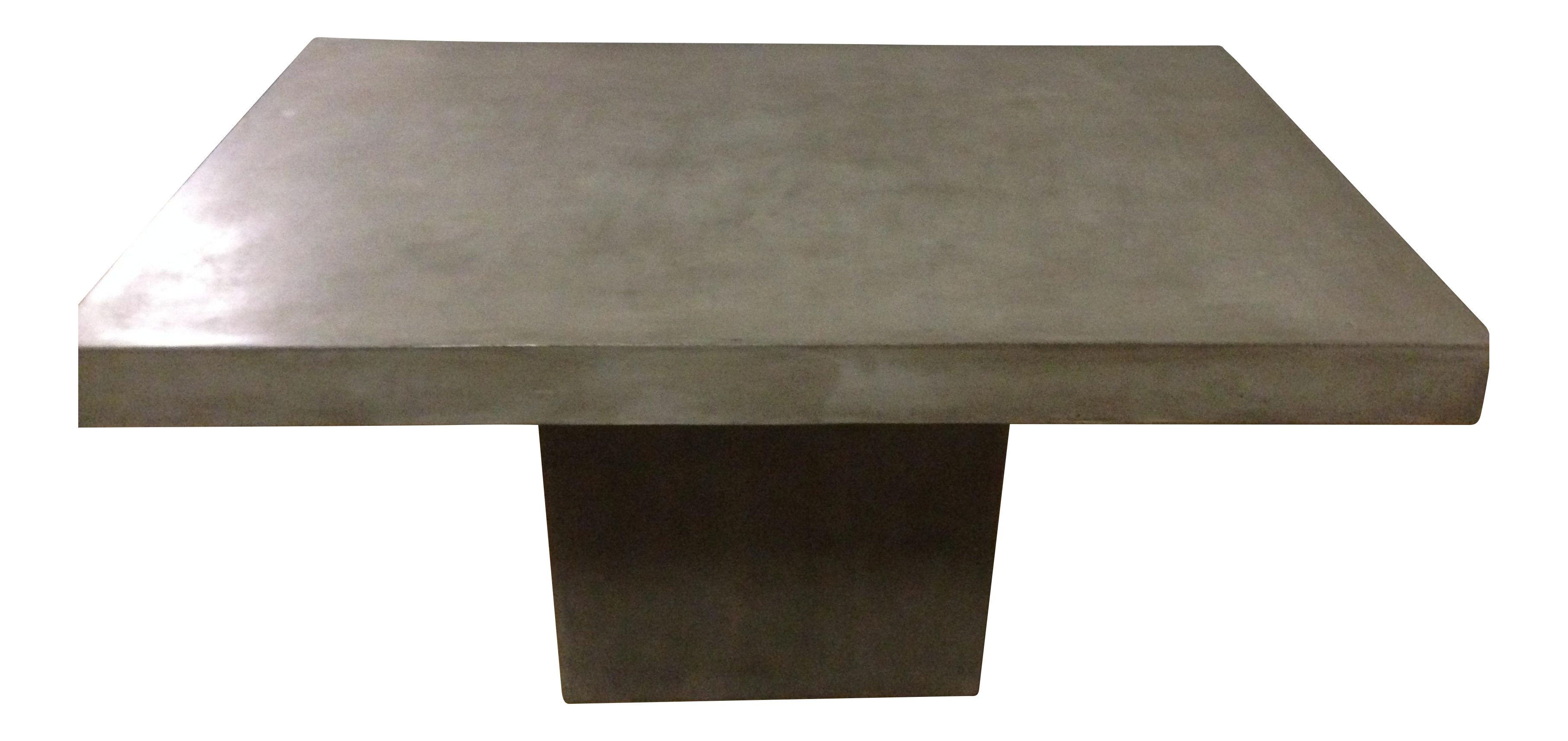 CB Fuze Concrete Dining Table Chairish - Cb2 cement table