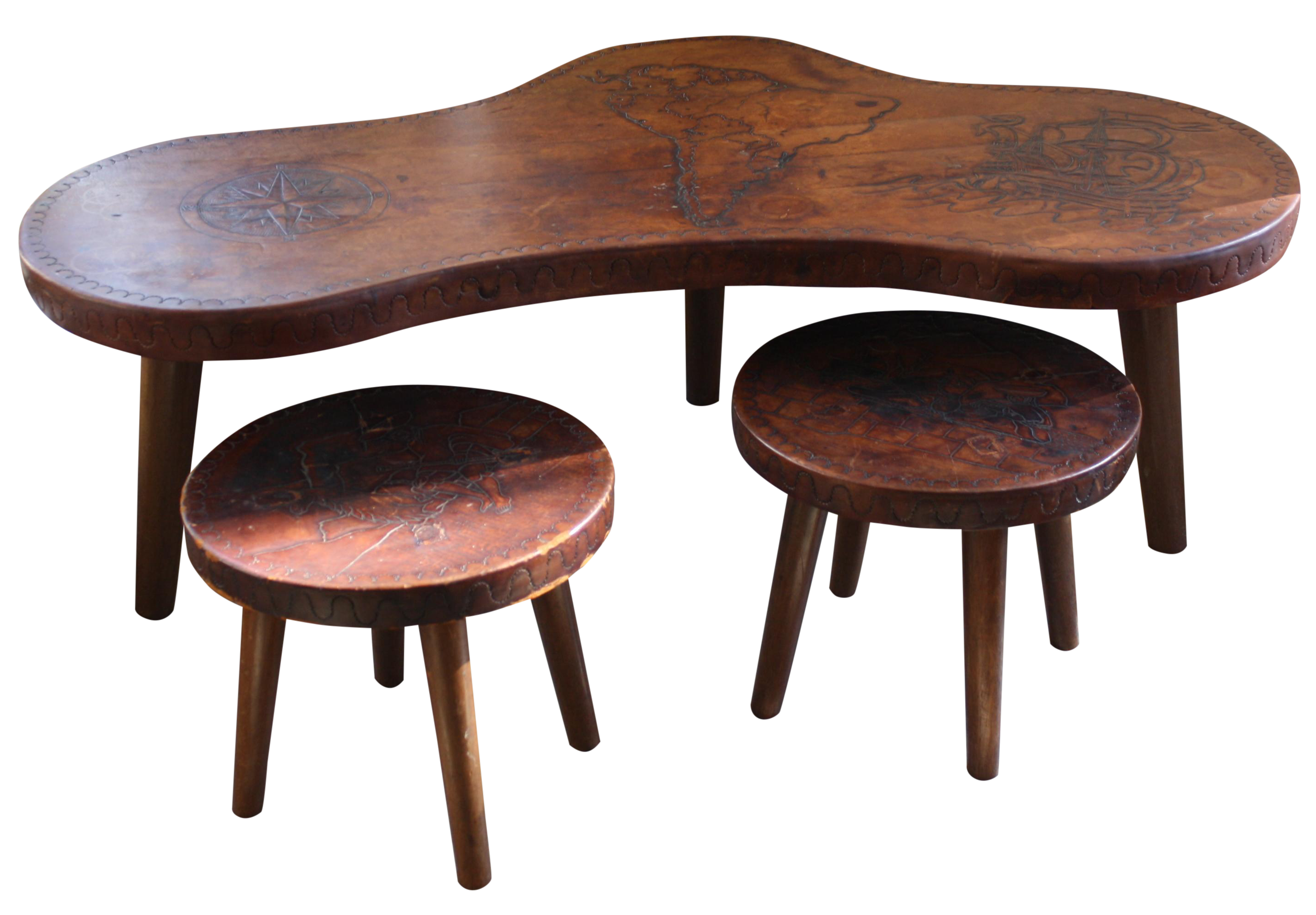 Vintage Used Lodge Tables Chairish # Muebles Ponderosa