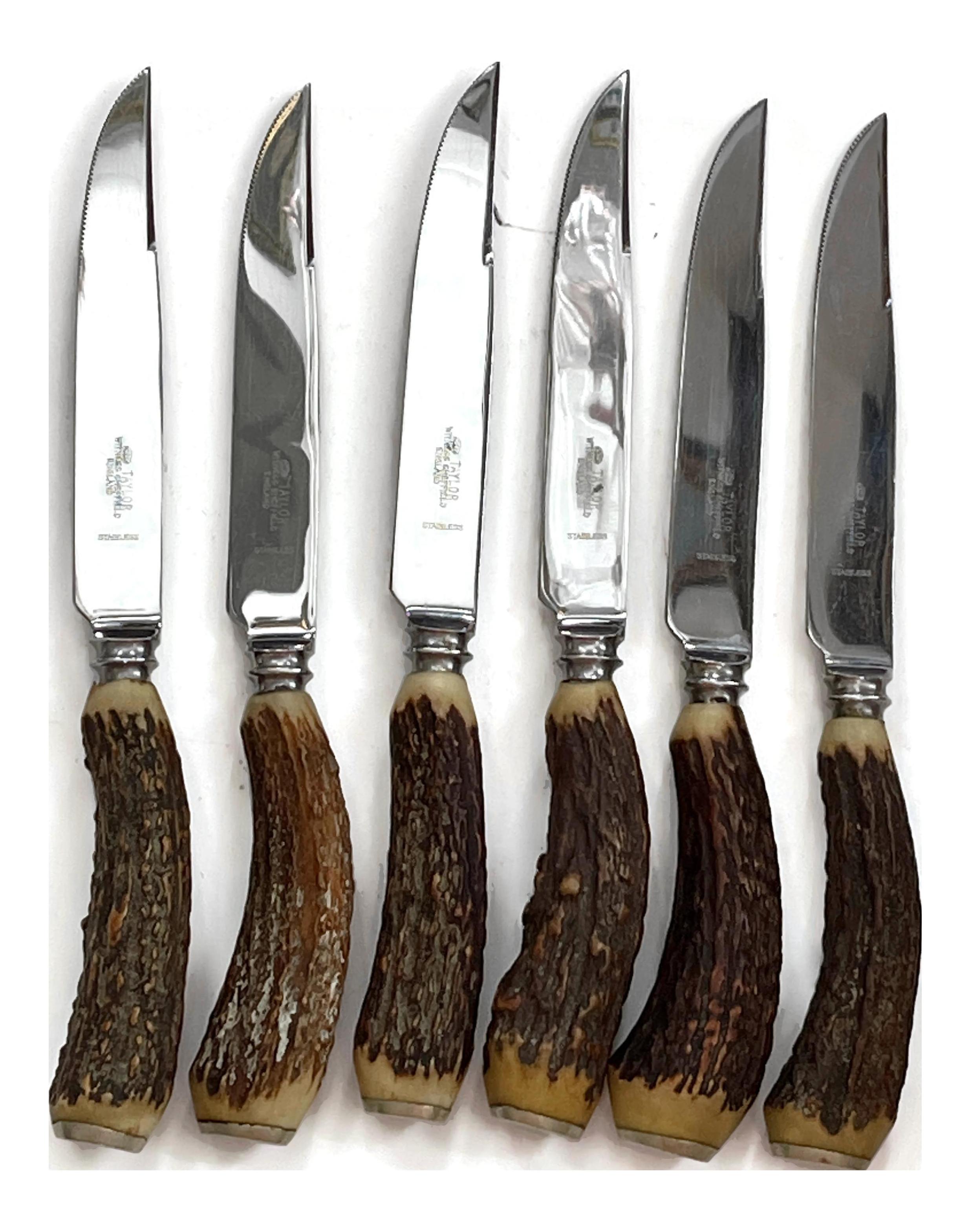 English Steak Knives Set of 6 Sheffield