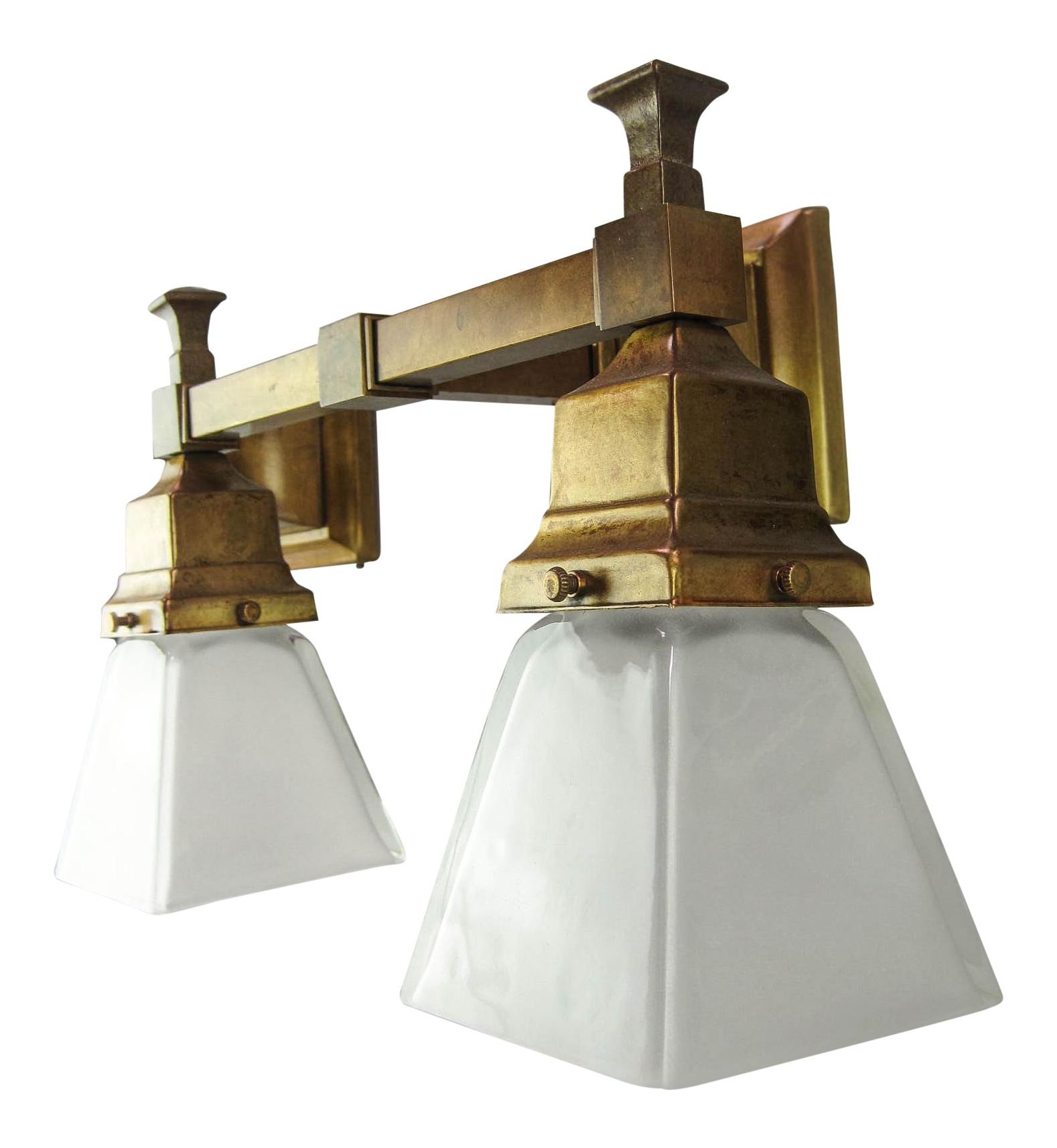 Incredible Arts Crafts Mission Wall Sconce Double Decaso