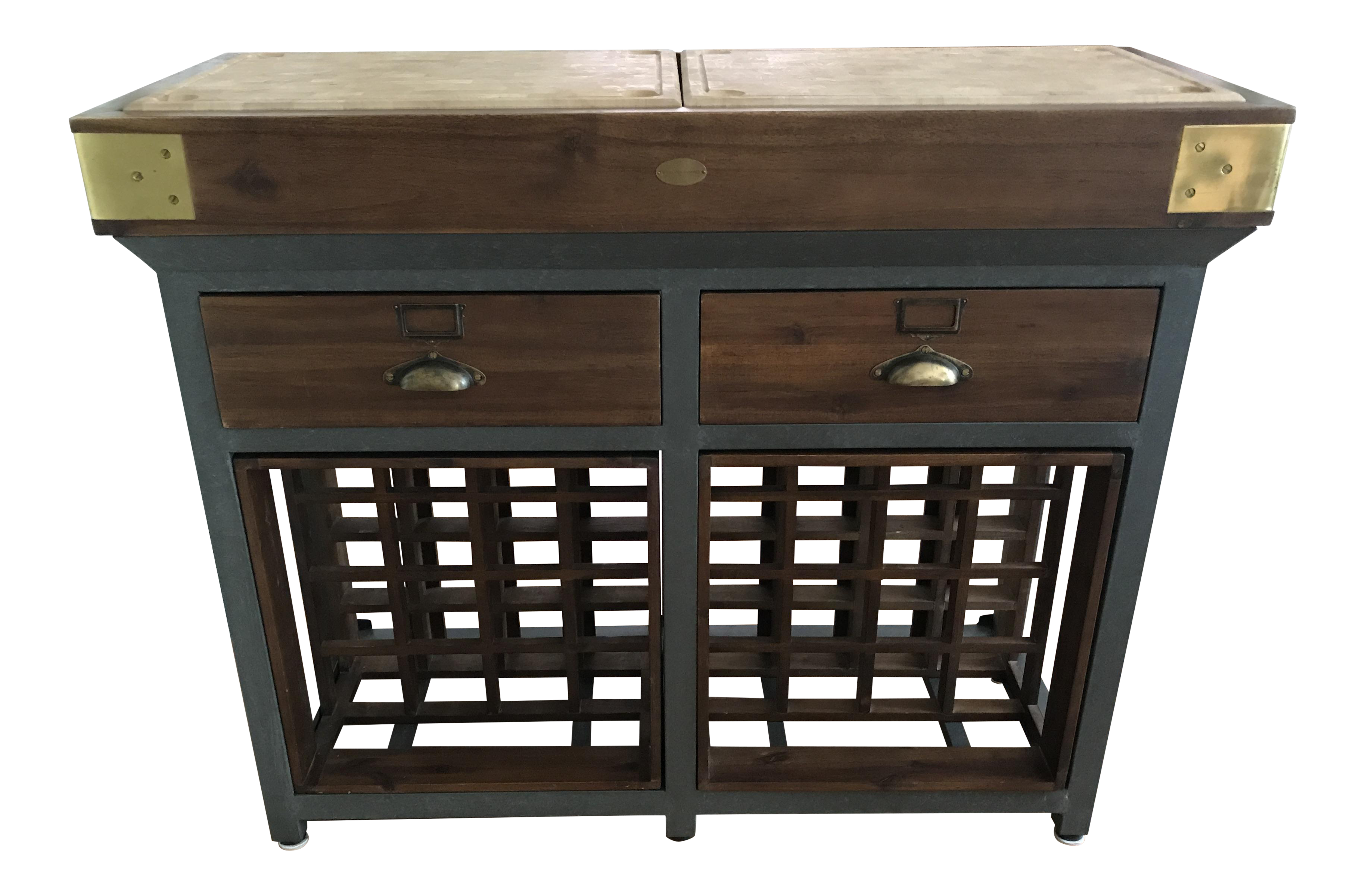 Williams Sonoma French Chef Kitchen Island With Drawers