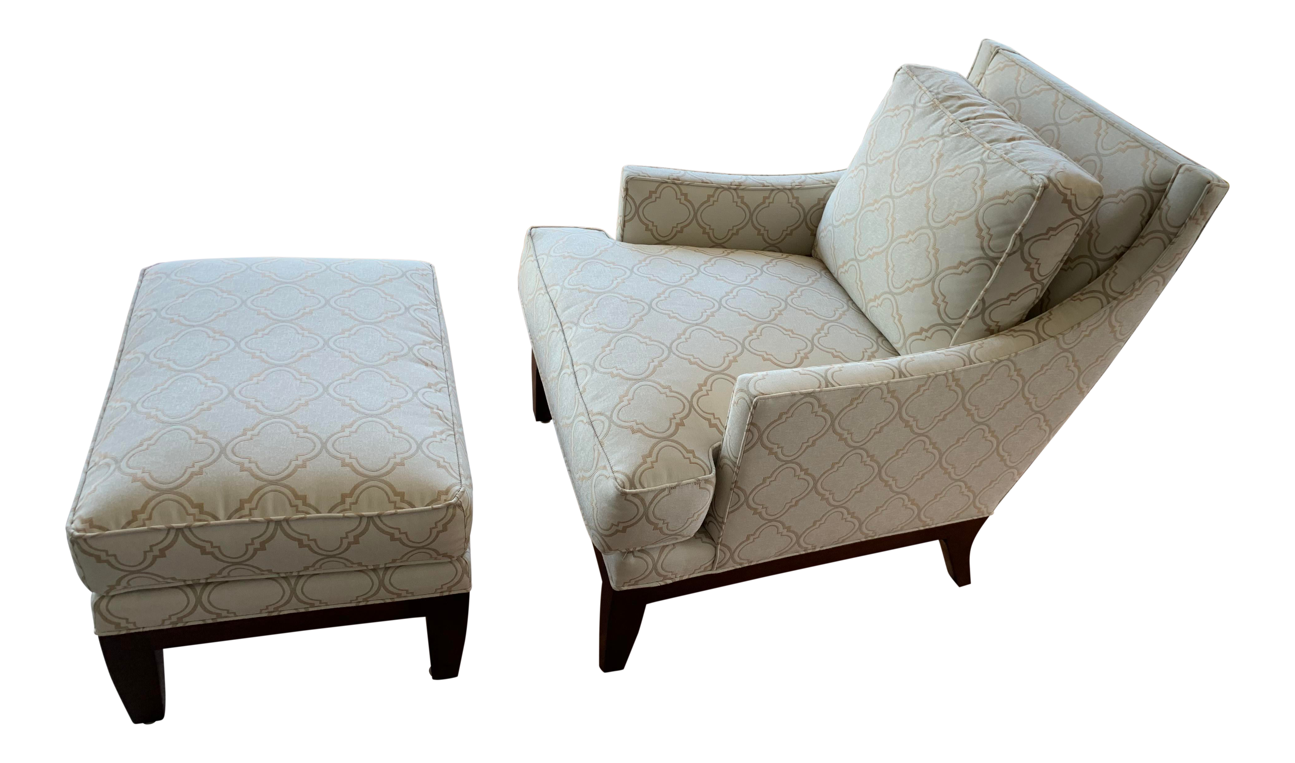 Remarkable Stickley Tribeca Style Chaise And Ottoman Pdpeps Interior Chair Design Pdpepsorg