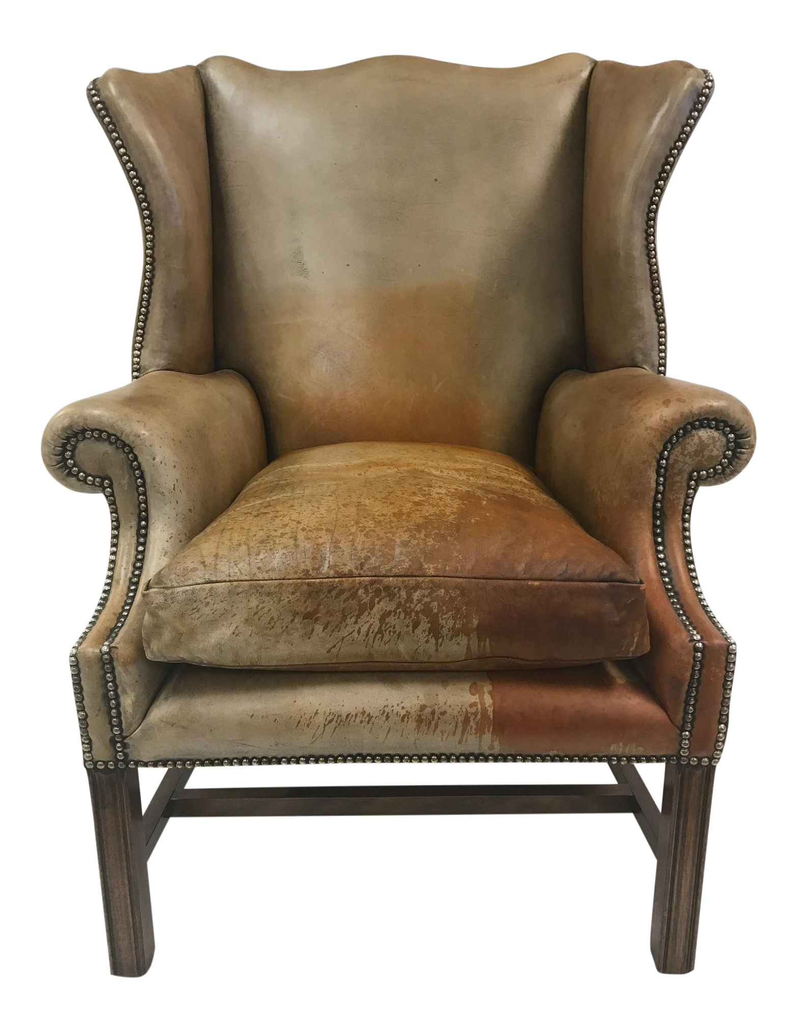 Super Vintage Leather Wingback Chair Gmtry Best Dining Table And Chair Ideas Images Gmtryco