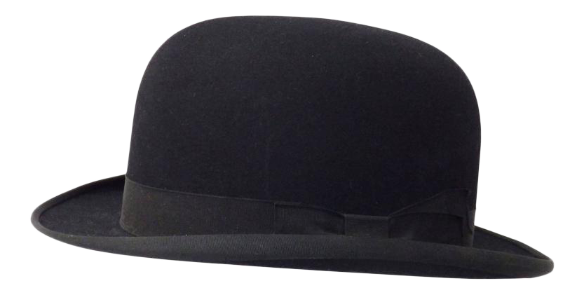22c67304 World-Class Nicely Preserved John B. Stetson Black Derby | DECASO