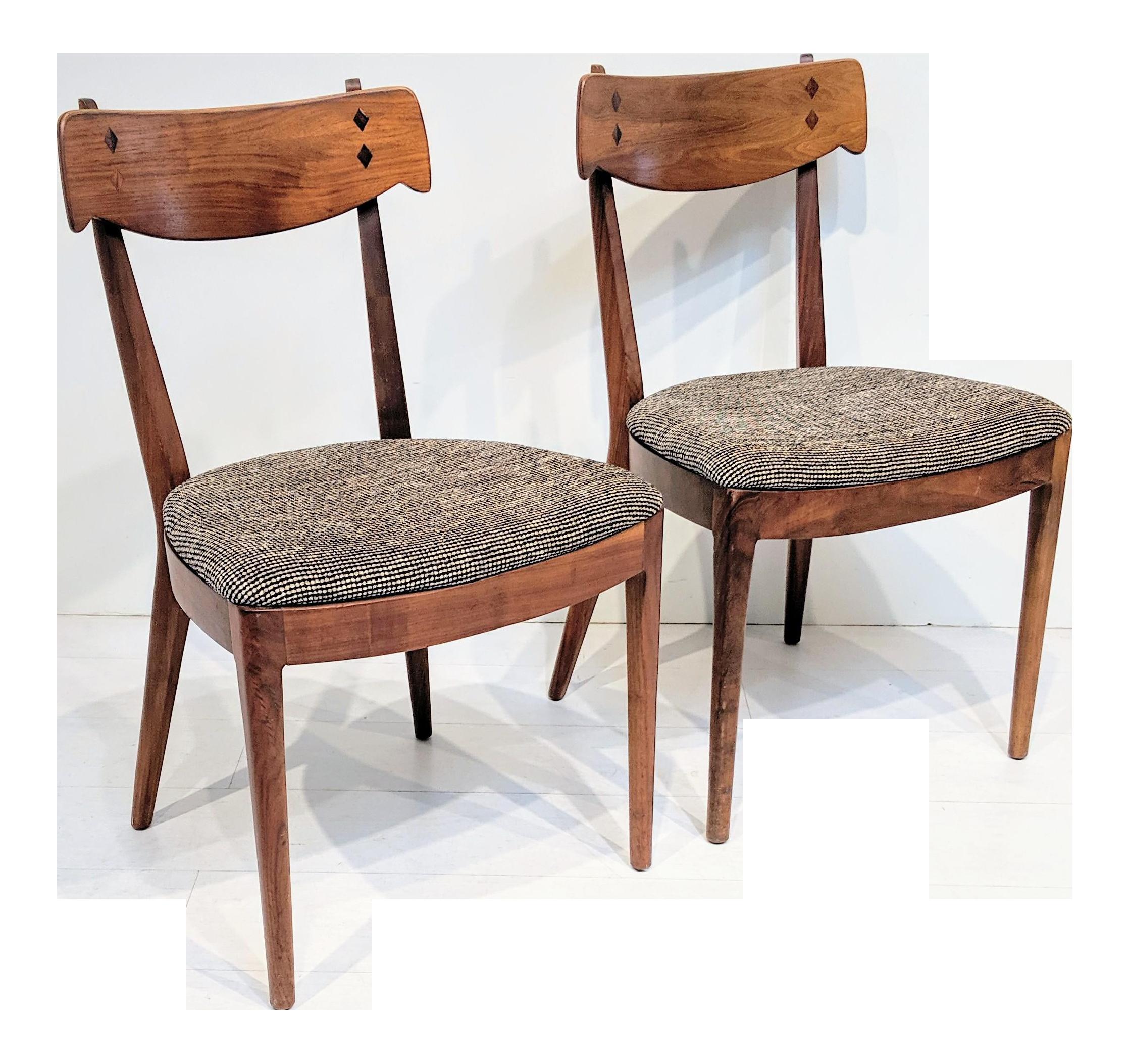 Peachy Mid Century Modern Kipp Stewart For Drexel Dining Chairs A Pair Dailytribune Chair Design For Home Dailytribuneorg