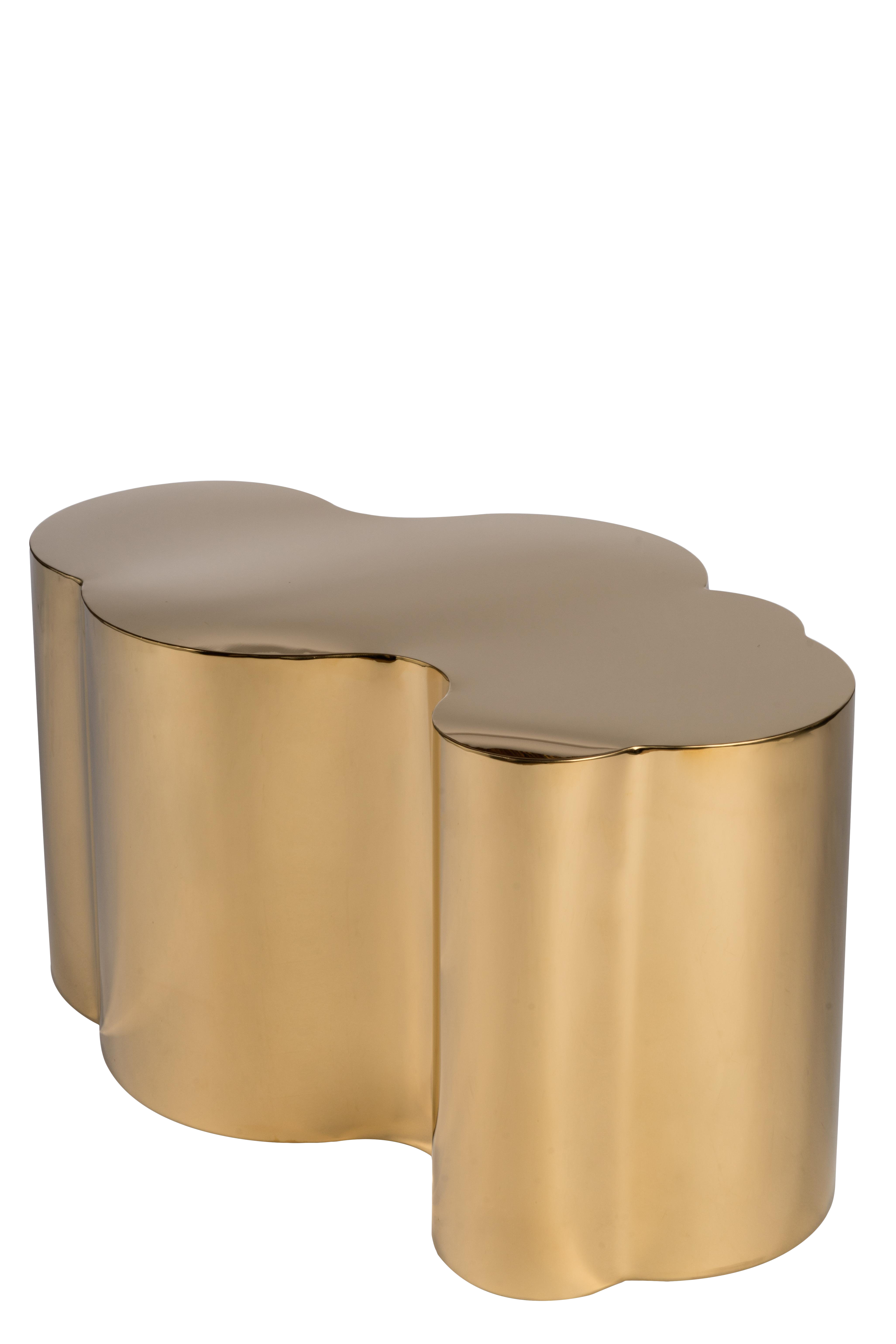 Abstract Modern Kate Gold Coffee Table Chairish