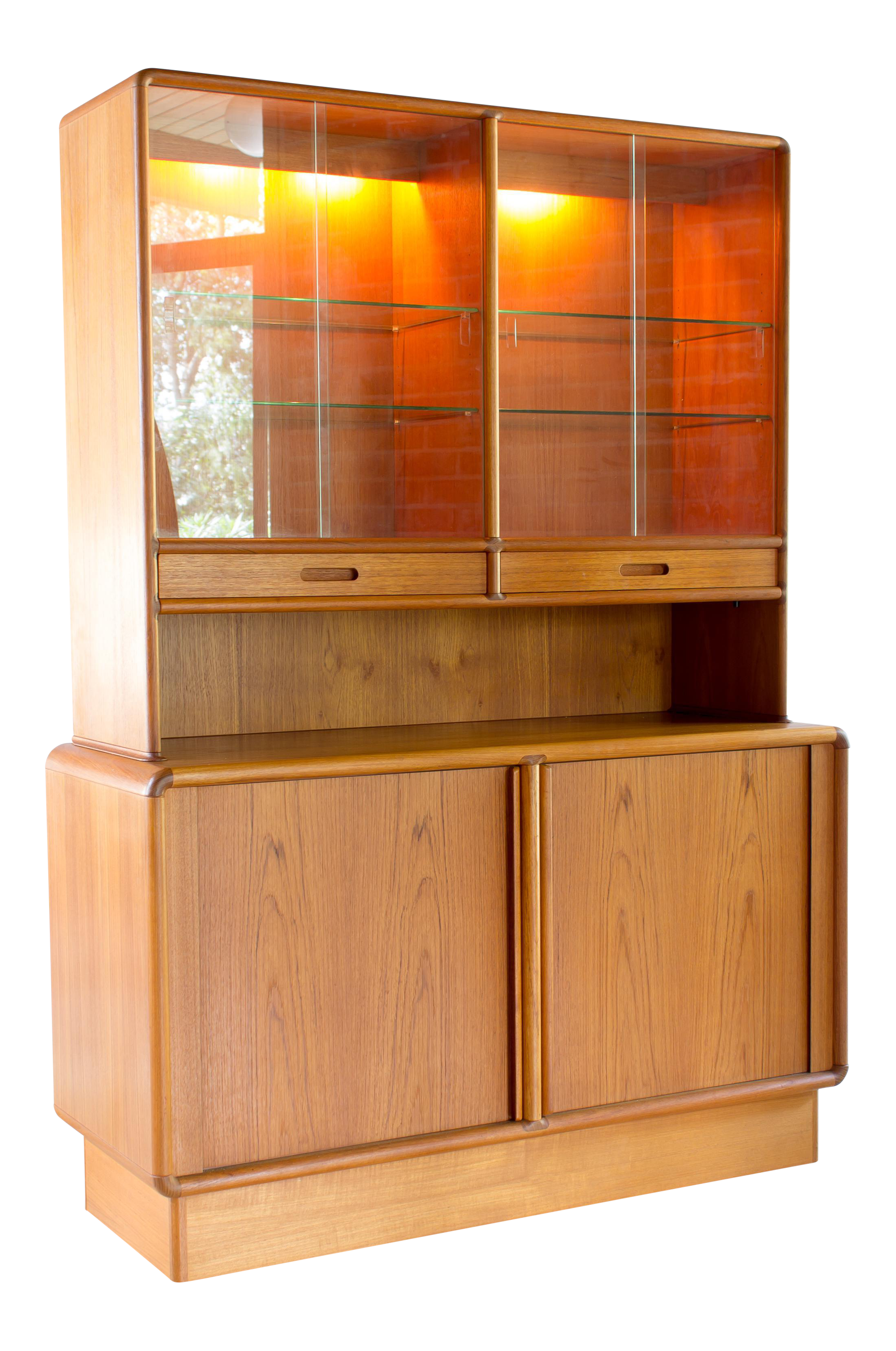 Kibaek Mobelfabrik A/S Teak China Cabinet | Chairish