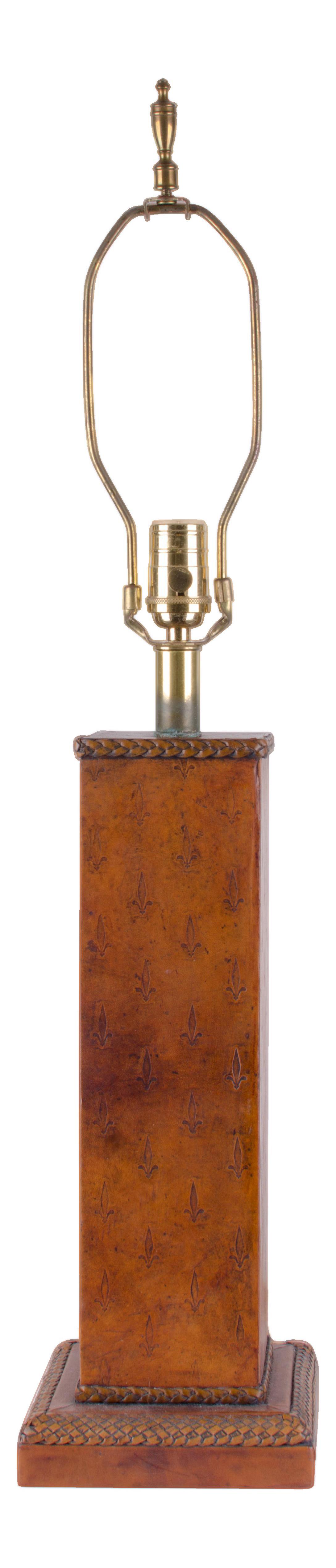 Sarreid Ltd Antiques Lamps Leather Lamp