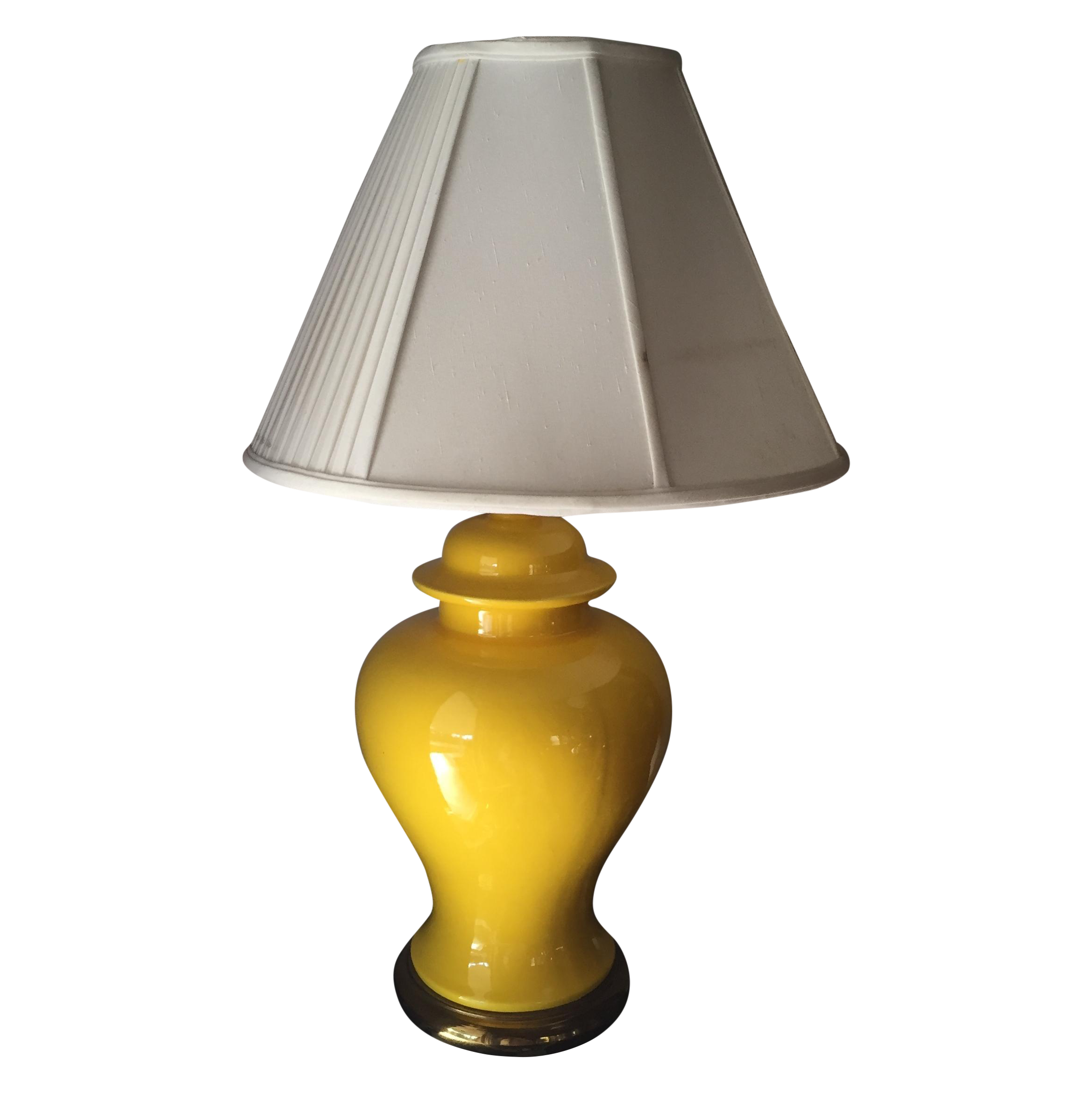 Vintage Yellow Table Lamp | Chairish for Yellow Lamp Png  75sfw