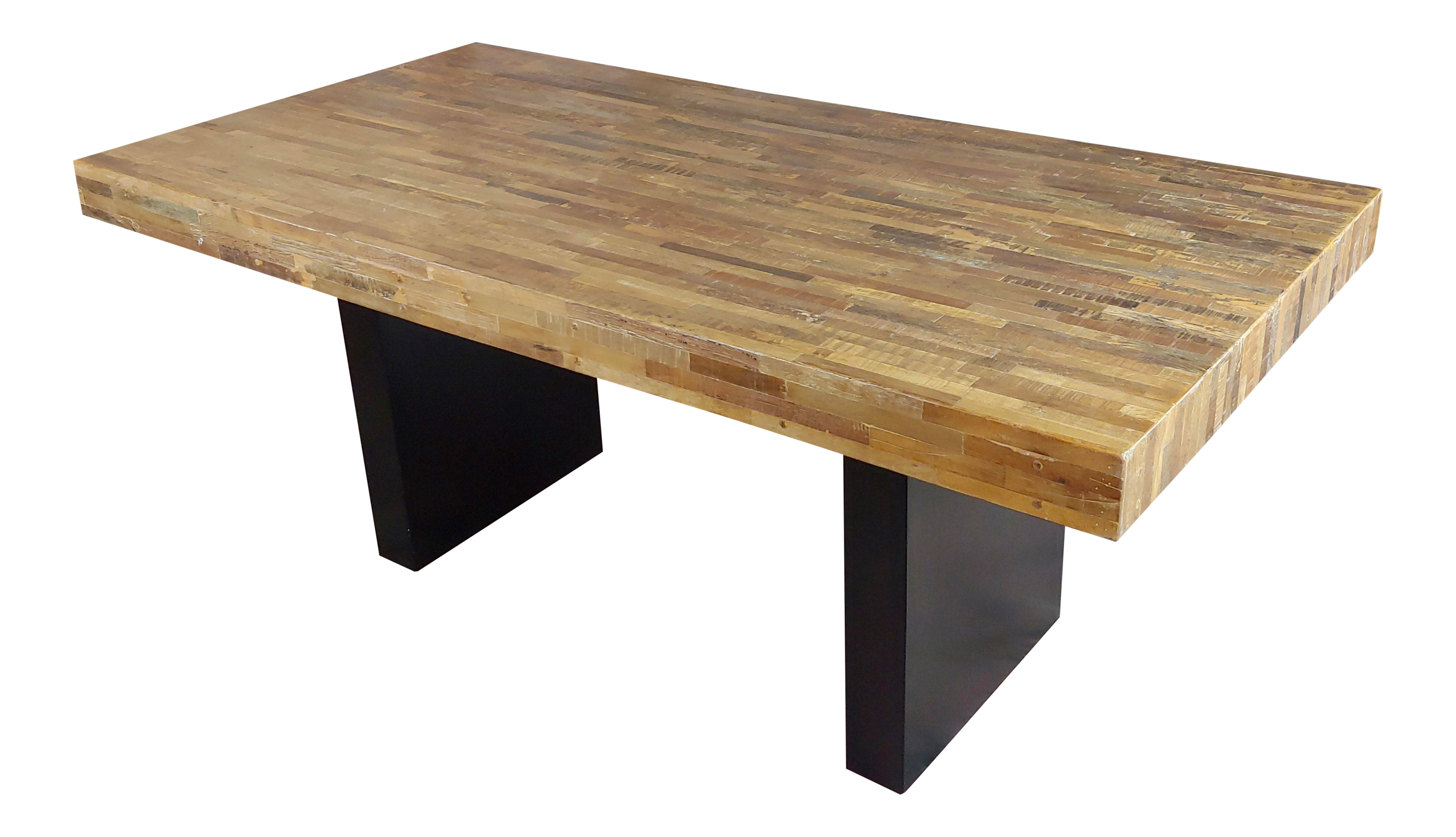 1970s Vintage Butcher Block Style Dining Table Chairish