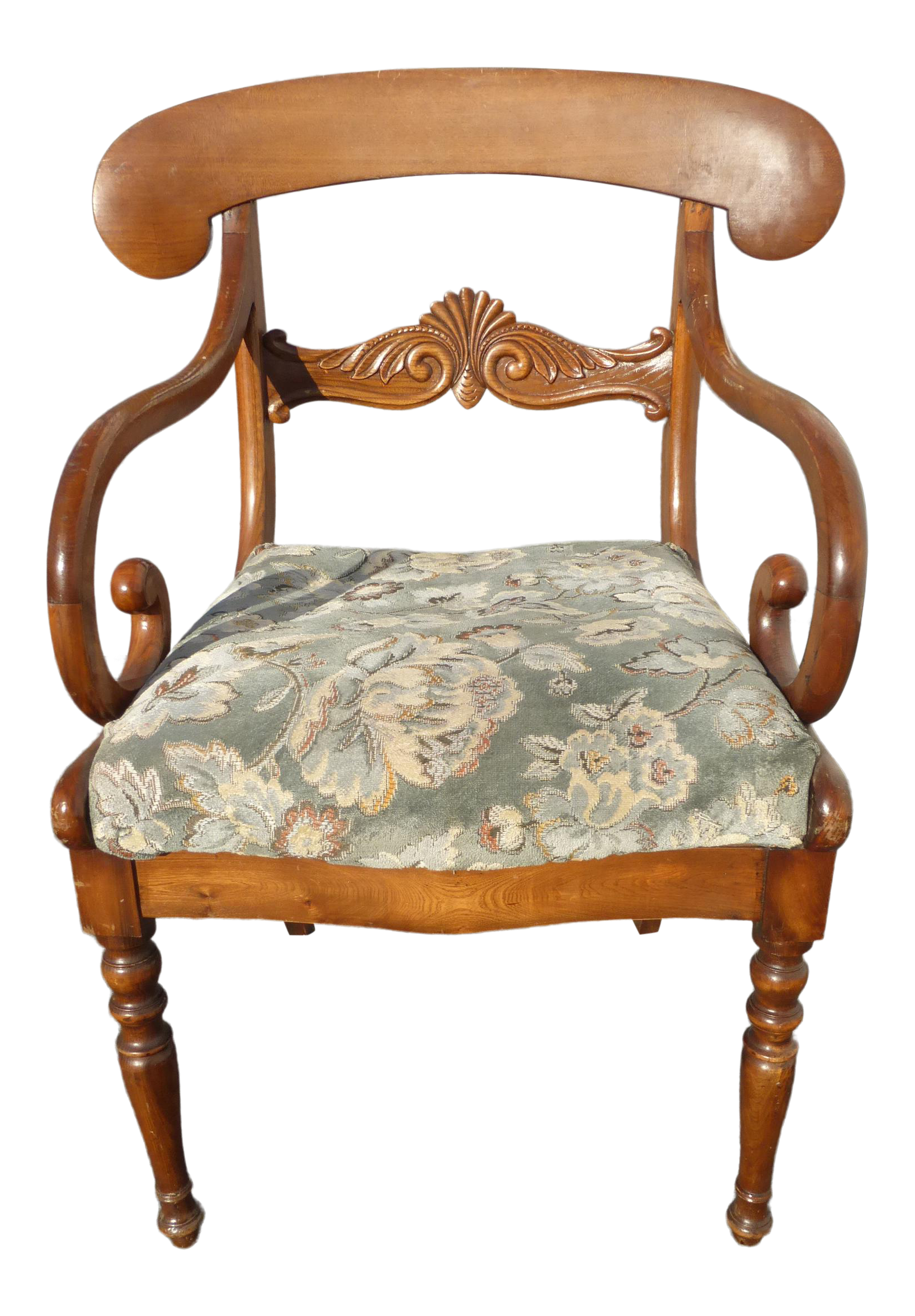Stupendous Vintage French Country Carved Wood Accent Chair Unique Scrolled Hand Rests Unemploymentrelief Wooden Chair Designs For Living Room Unemploymentrelieforg