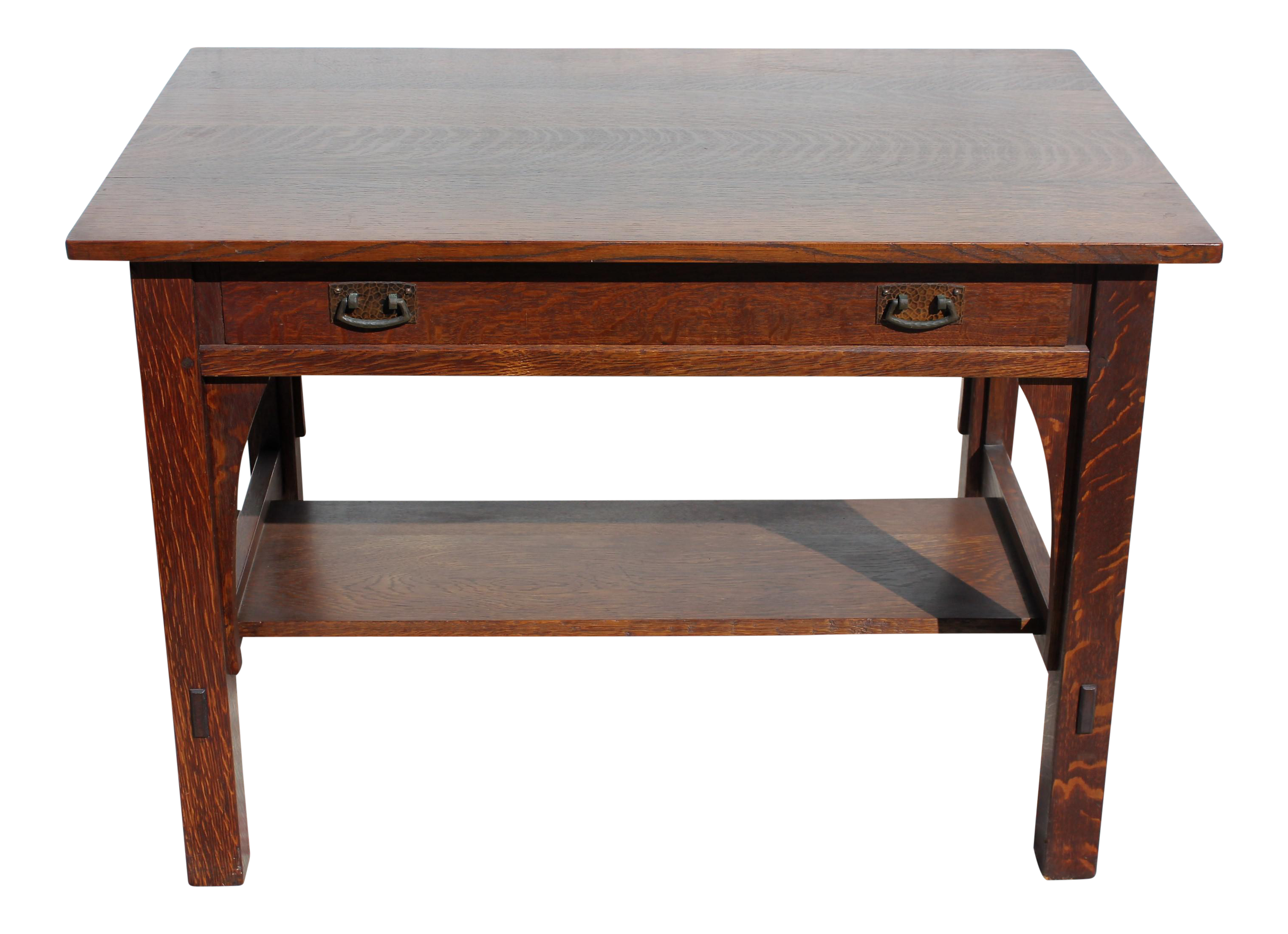 crafts cherry desk black top and stickley granite arts products executive