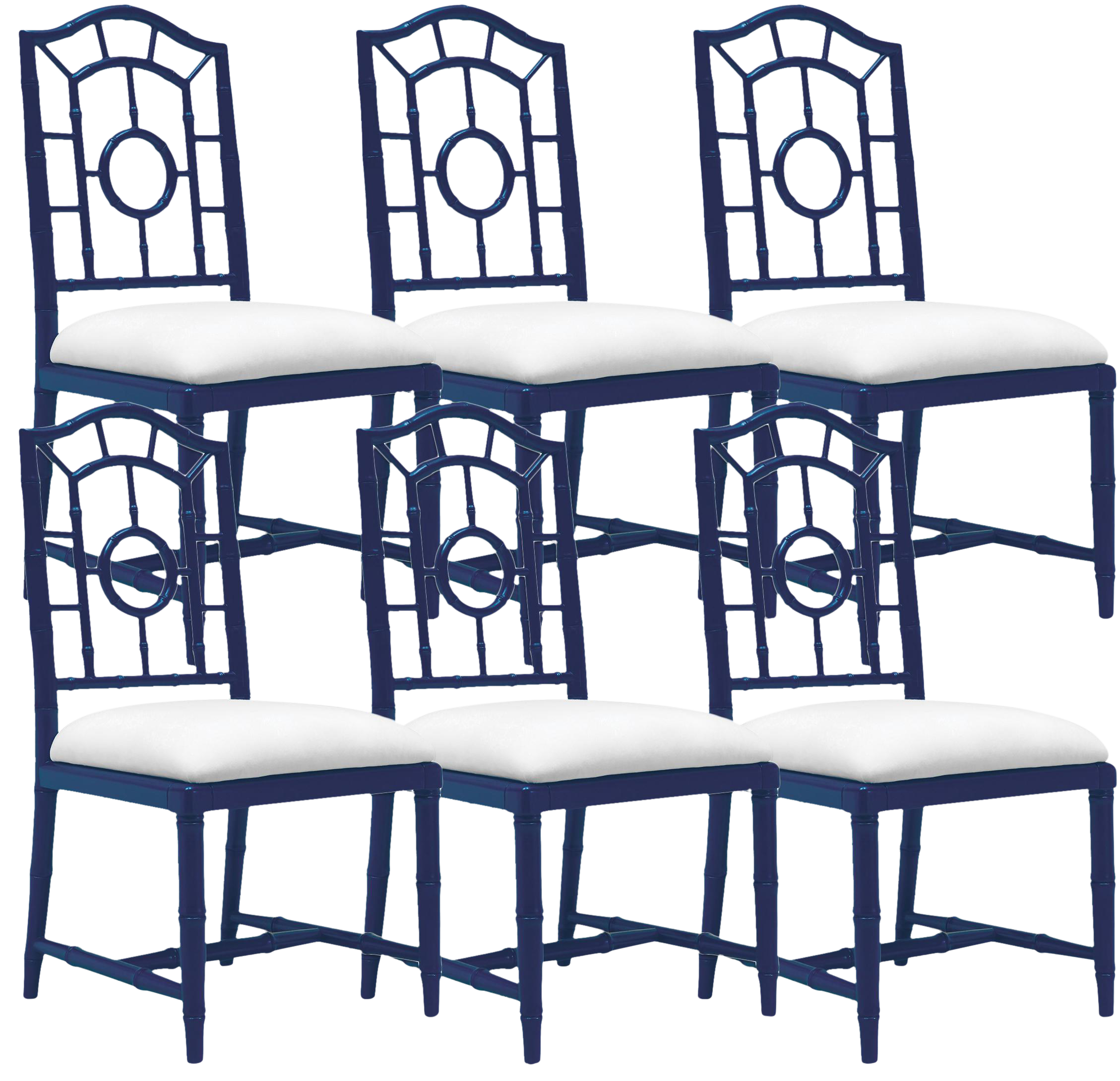 Kitchen Bar Stools For Sale In Ireland: Bungalow 5 Chloe Navy Side Dining Chairs – Set Of 6