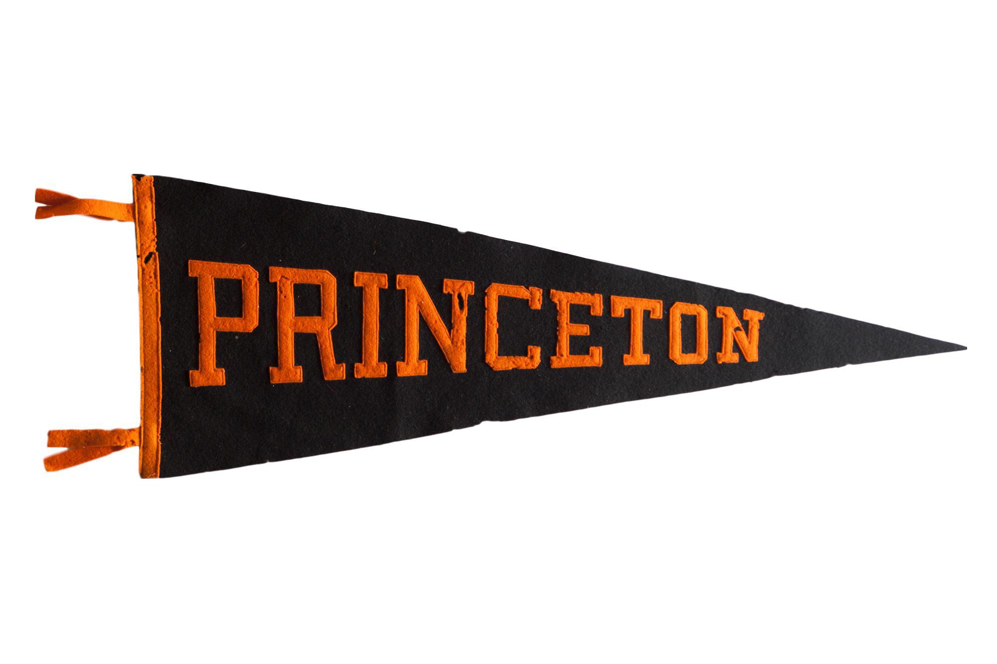 Vintage Princeton Felt Flag Pennant Chairish