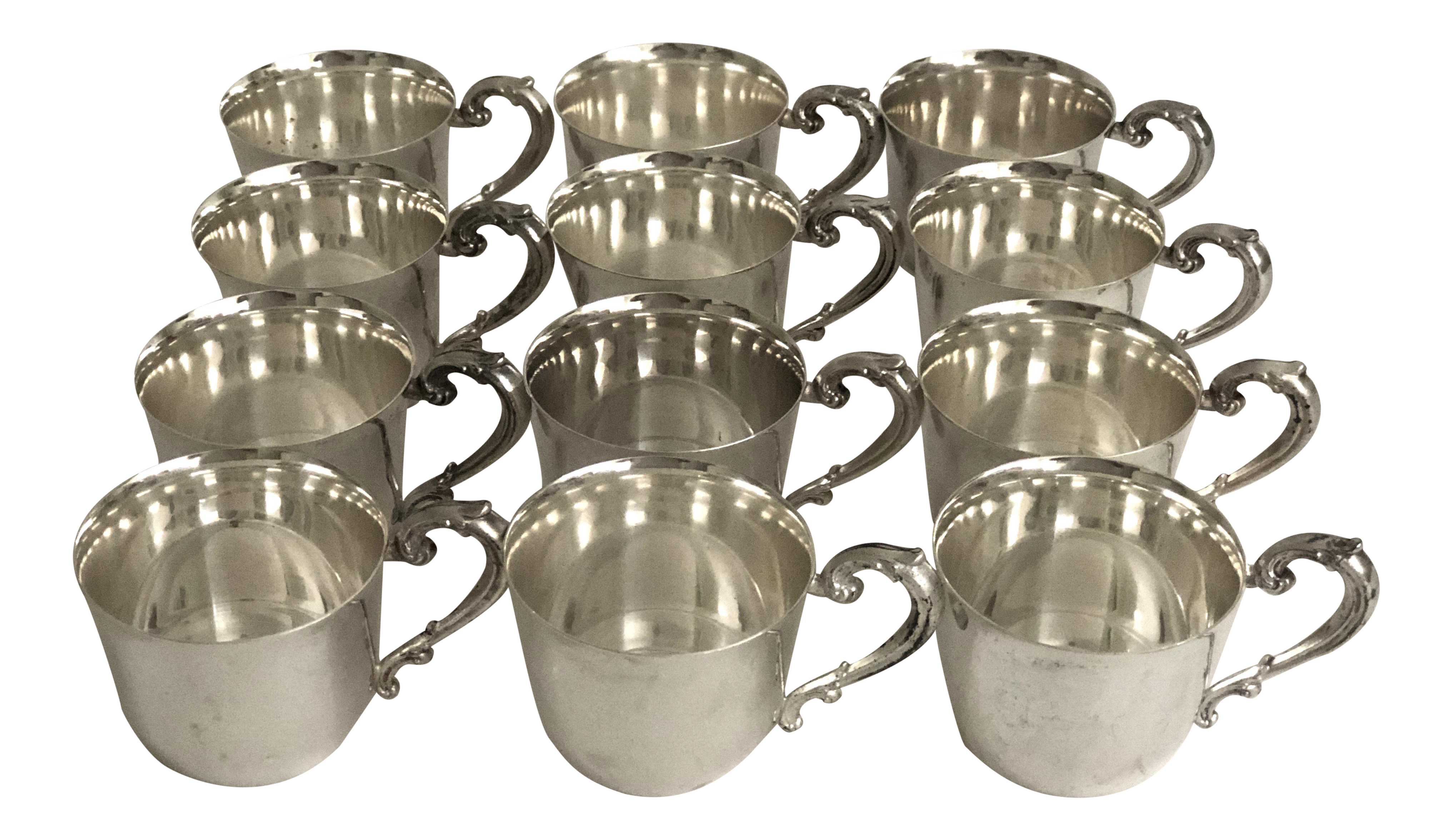 Vintage sheridan silver punch cups set of 12 chairish