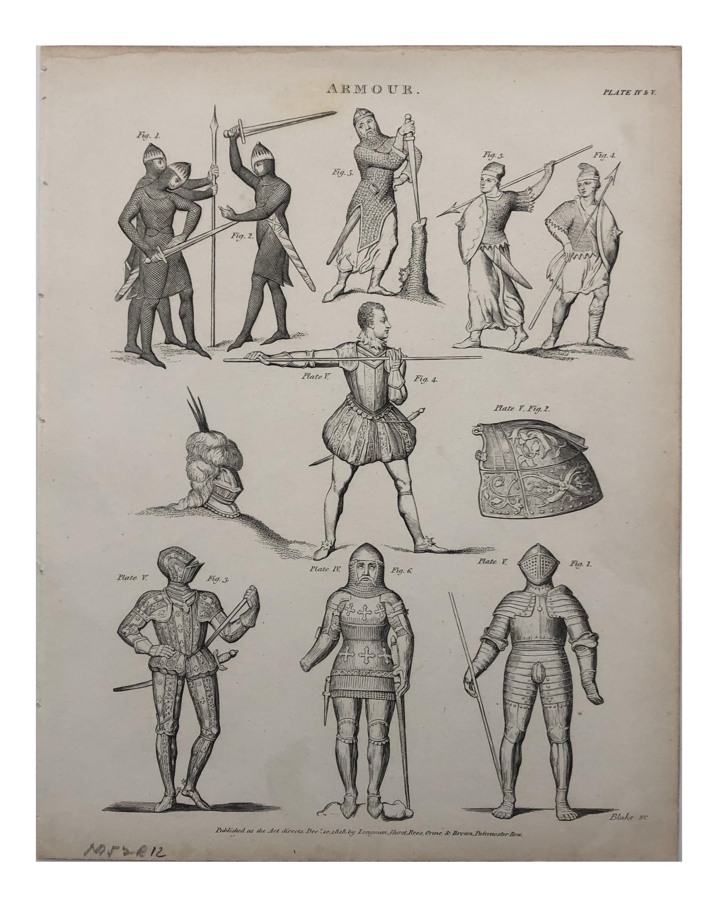 History Of Armor 19th Century Print Chairish