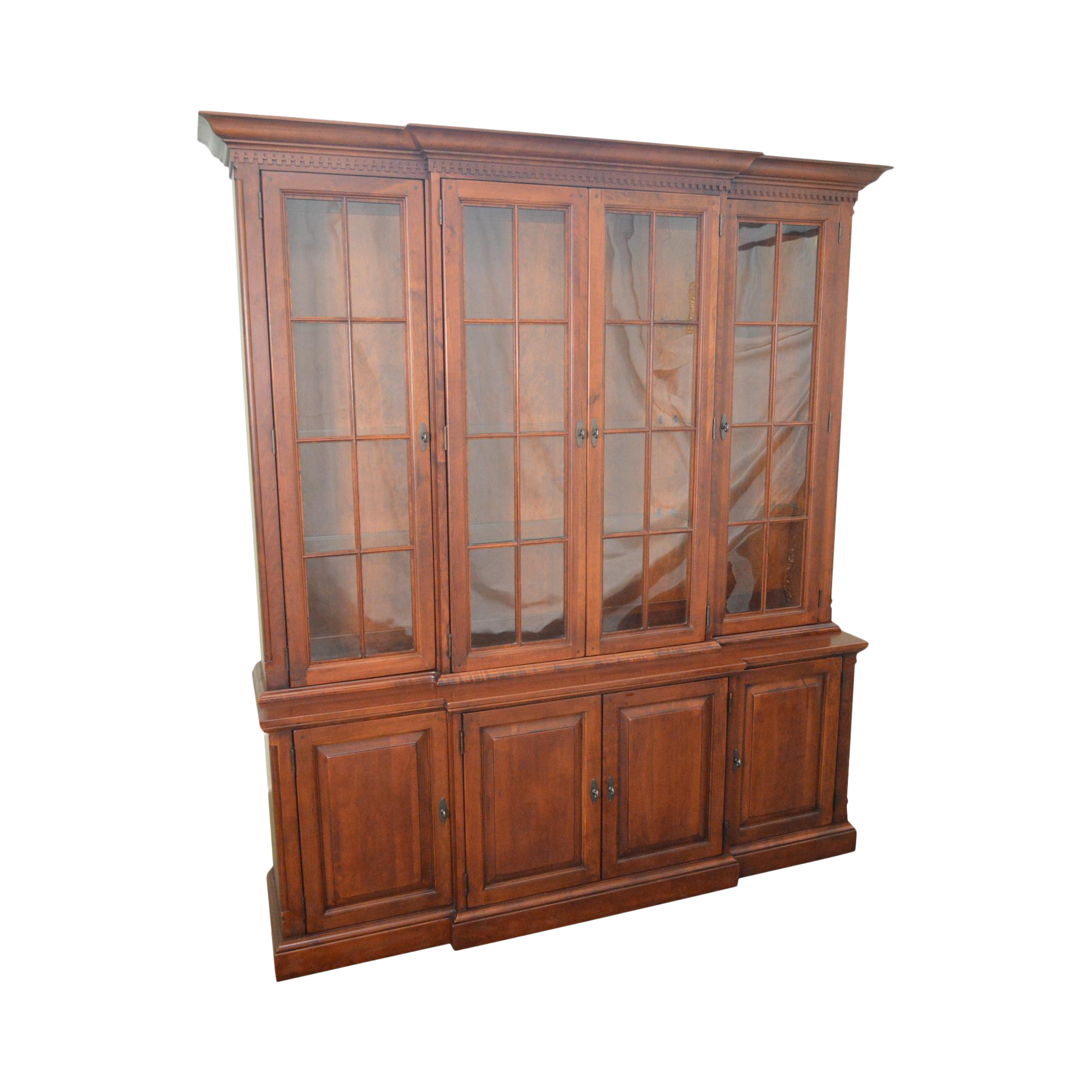 Lexington Bob Timberlake Solid Cherry China Cabinet Breakfront or Bookcase  | Chairish
