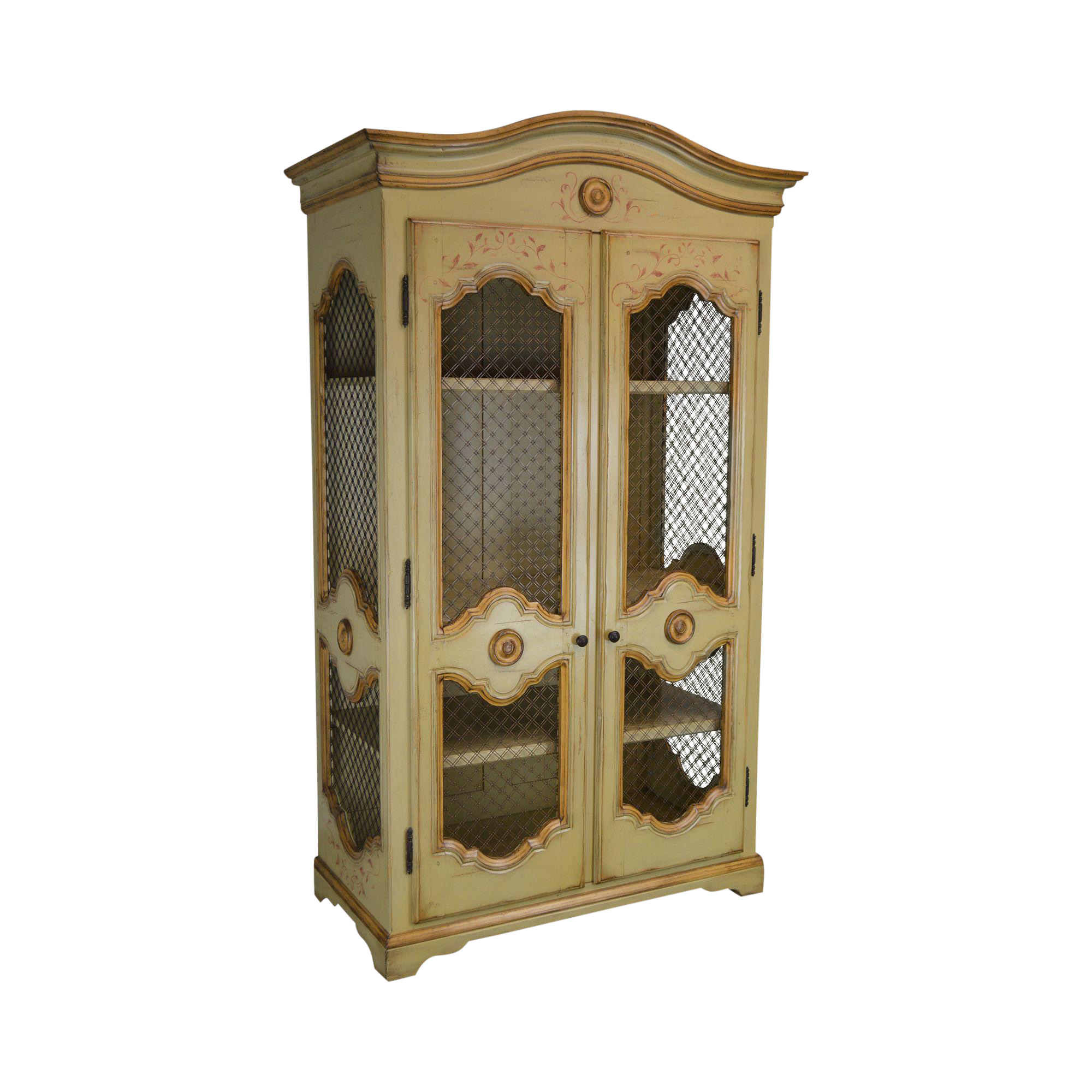 Woodland Furniture French Country Style Large Hand Painted Armoire Chairish